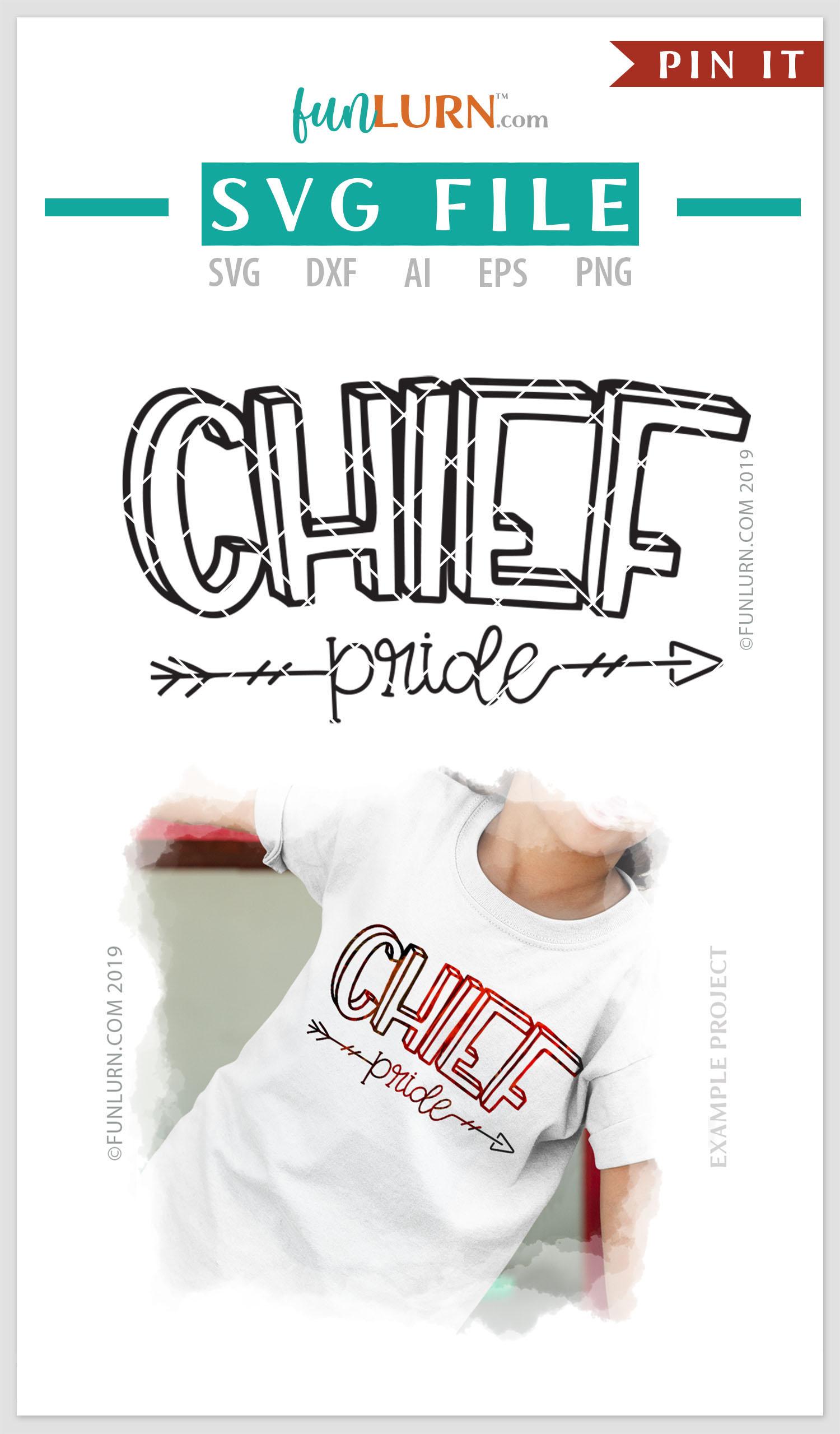 Chief Pride Team SVG Cut File example image 4
