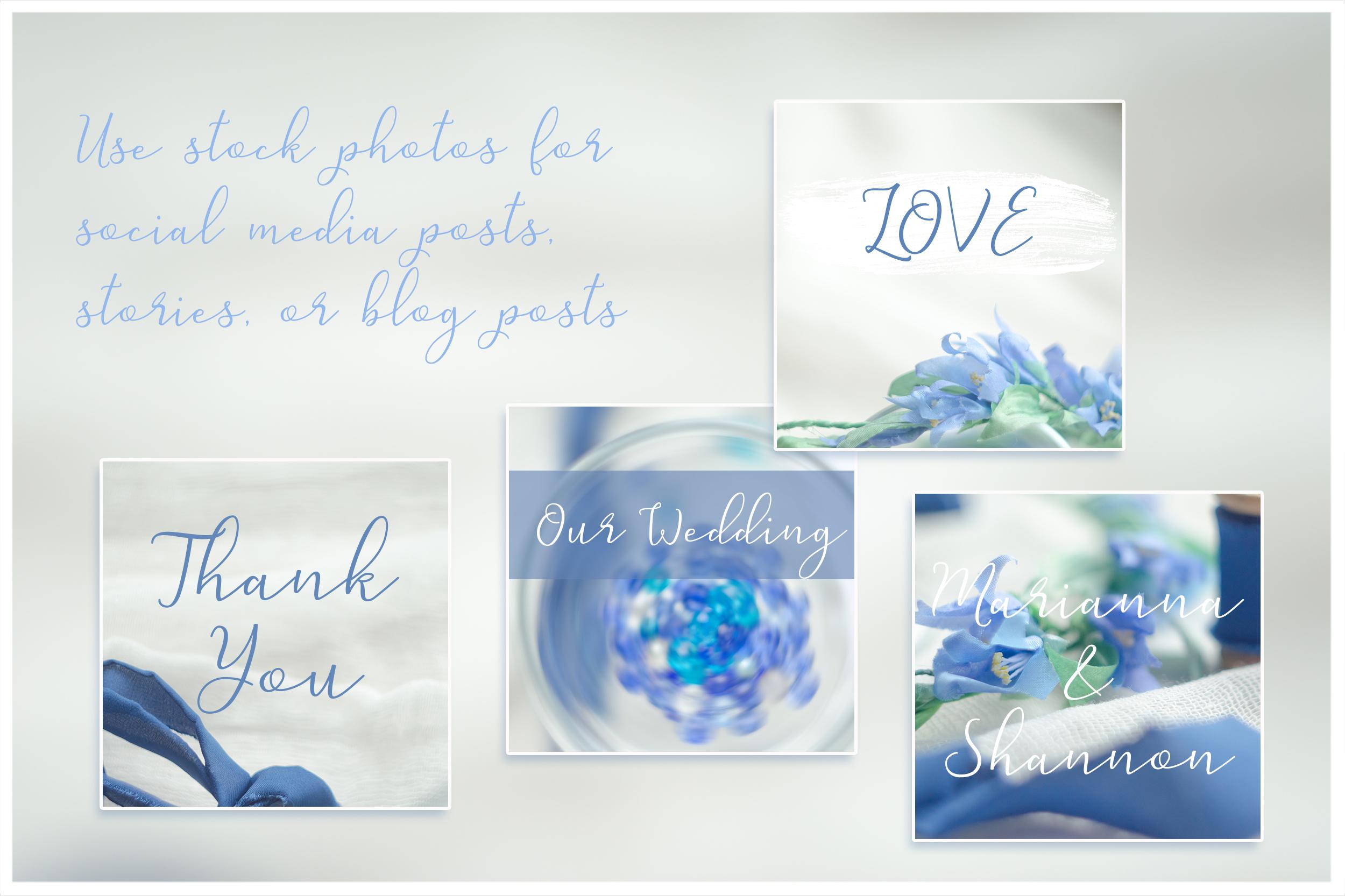Something blue. Wedding mockups & stock photo bundle example image 14
