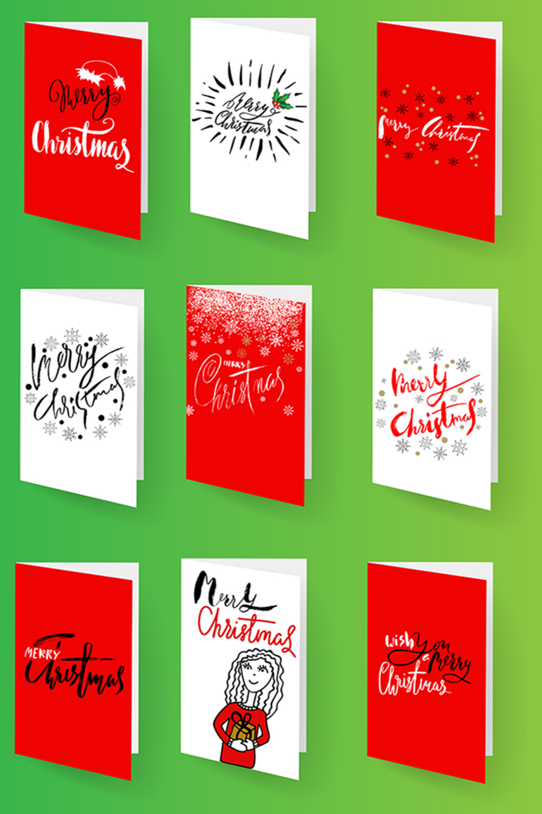 Christmas snowy display font example image 5