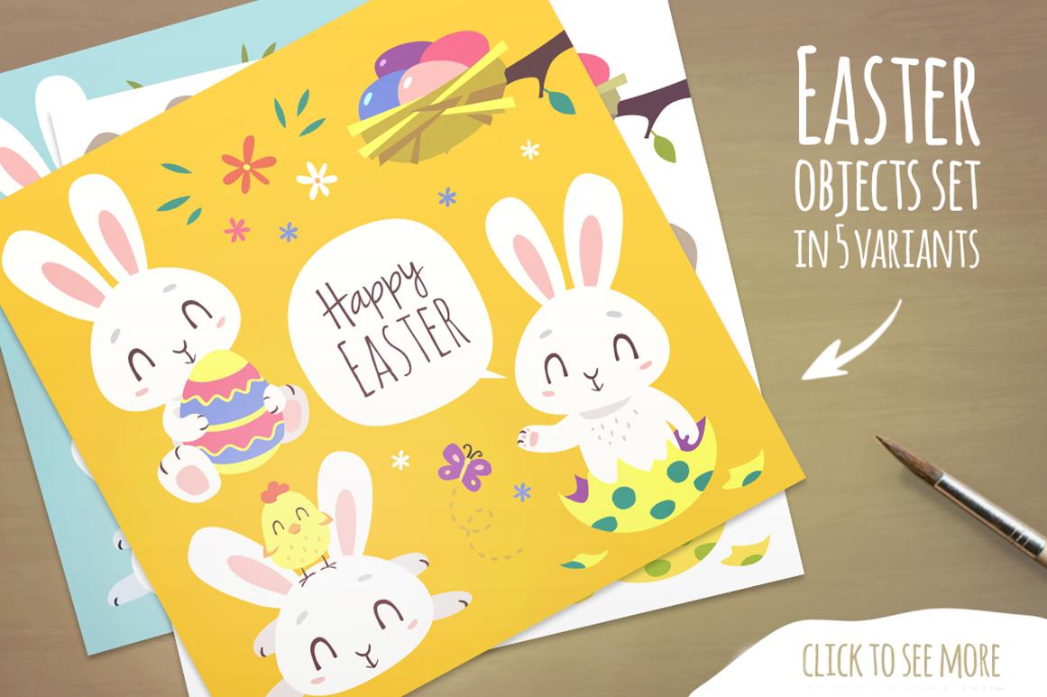 Easter Bunny Cartoon Set example image 2