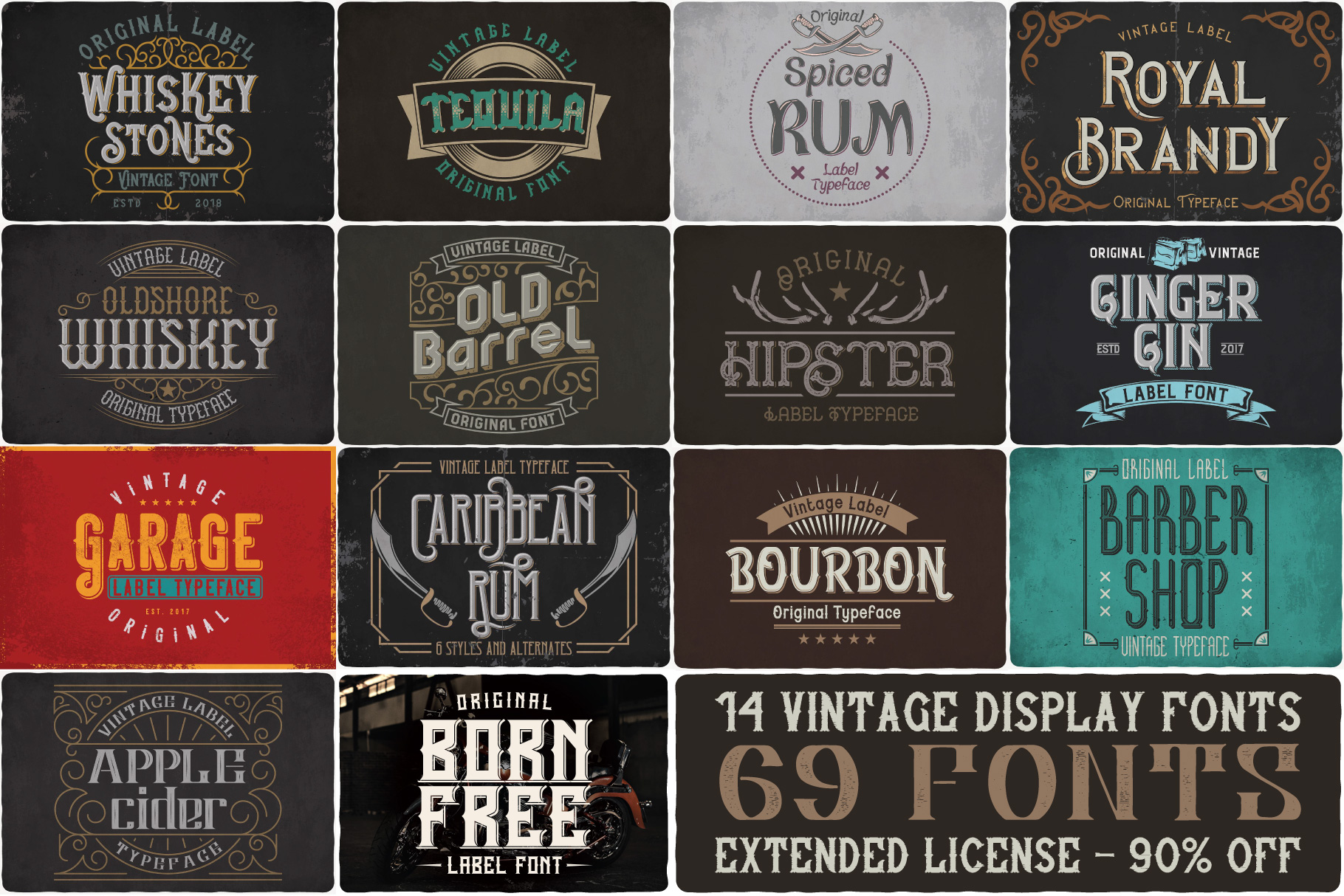 Vintage Fonts Bundle example image 1