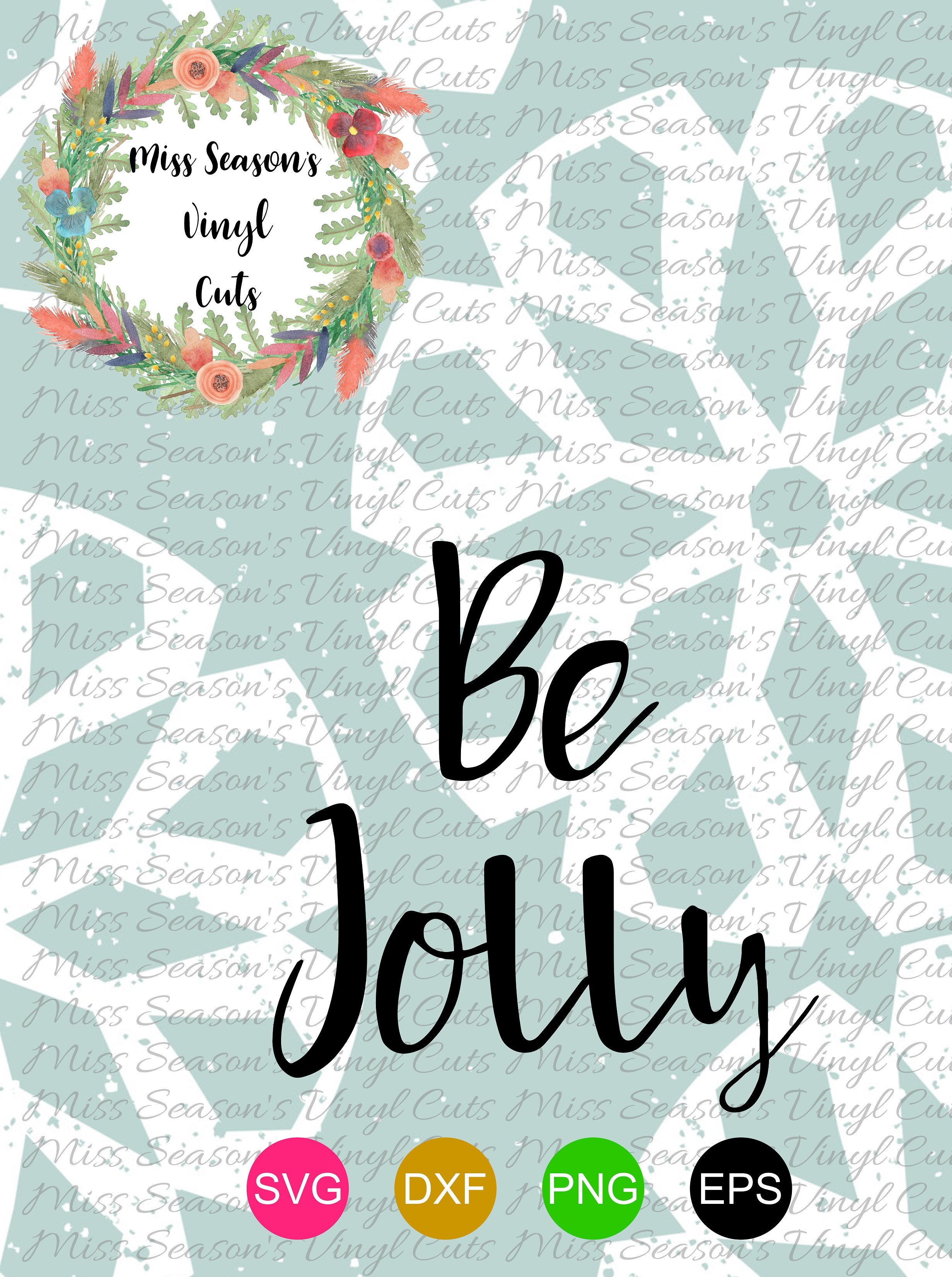 Be Jolly Svg example image 1
