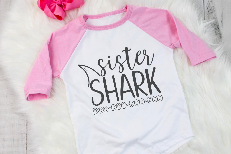 Sister Shark SVG example image 2
