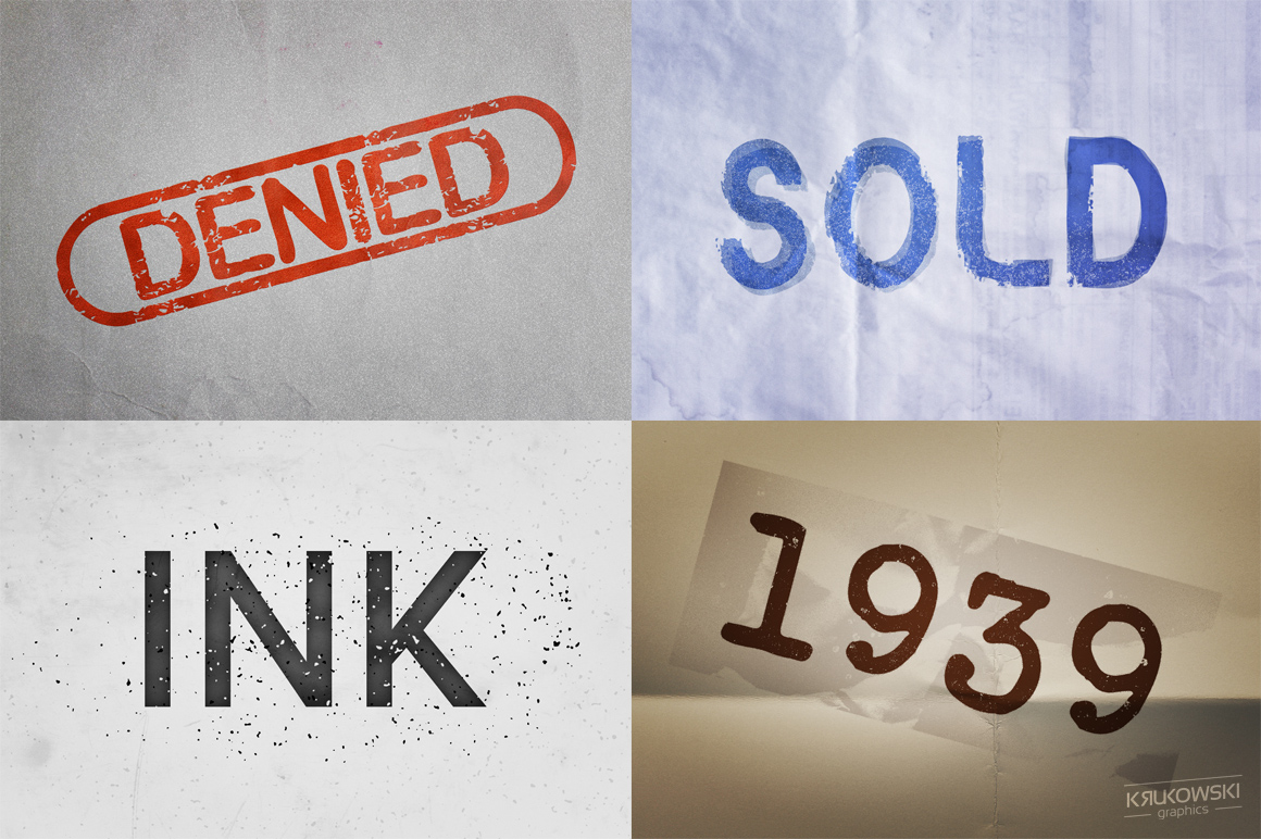 Stamp Ink Text Effects Style example image 2