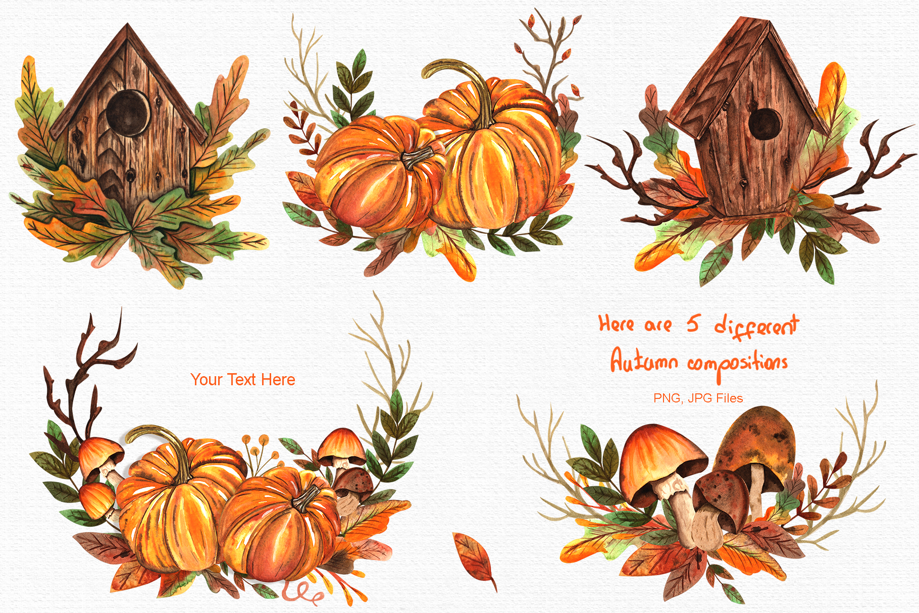 Watercolor Autumn Collection example image 2