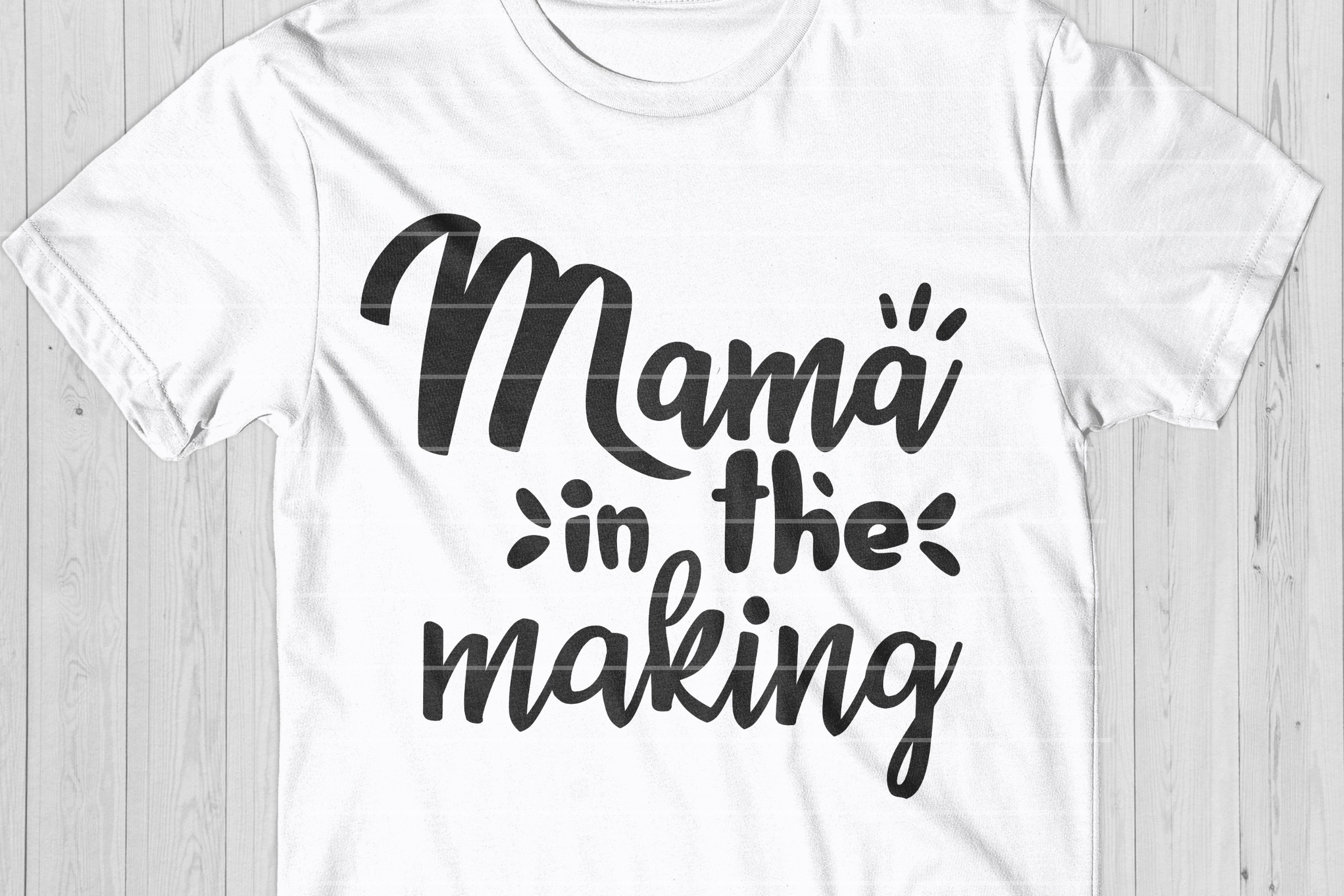 Mama In The Making SVG, Future Mom Cut File example image 1