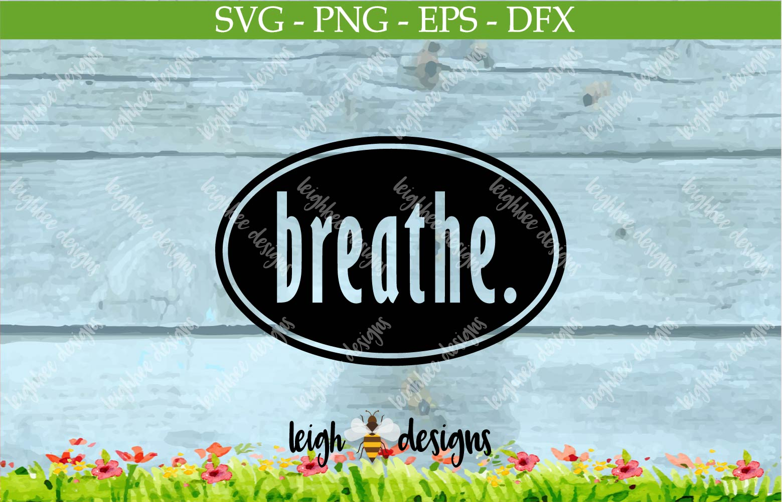 Breath Oval SVG/DFX/PNG/EPS File  example image 2