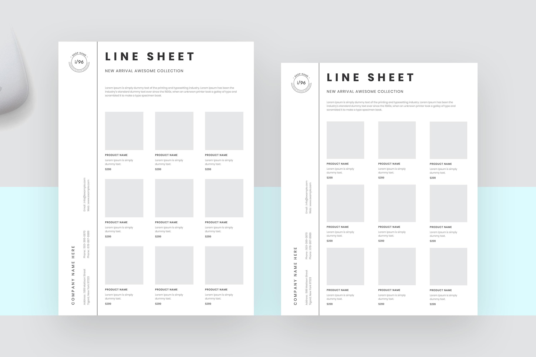 Portrait line sheet flyer layout example image 3