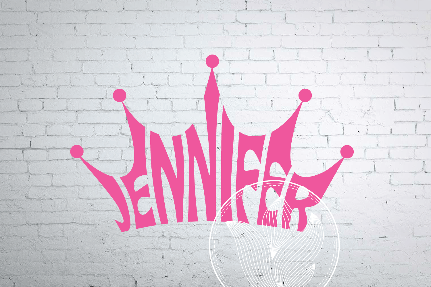 Digital Jennifer Word Art In Crown Shape Jennifer Crown