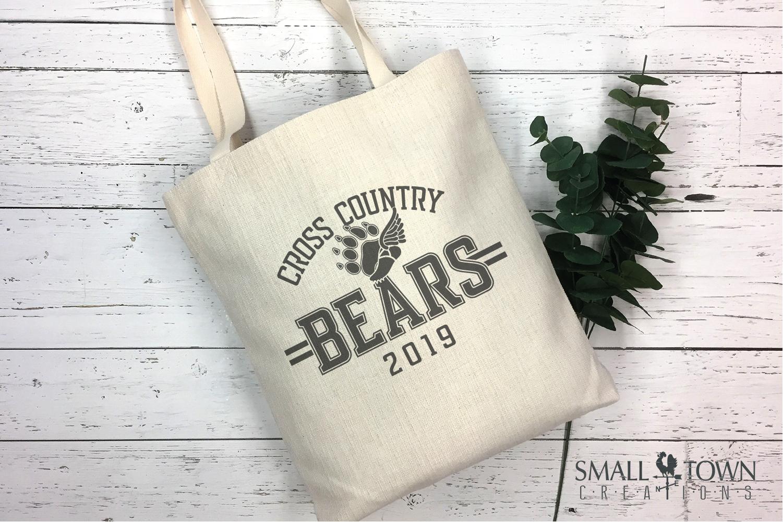 Bear Cross Country, Paw Print, Team, PRINT, CUT & DESIGN example image 4