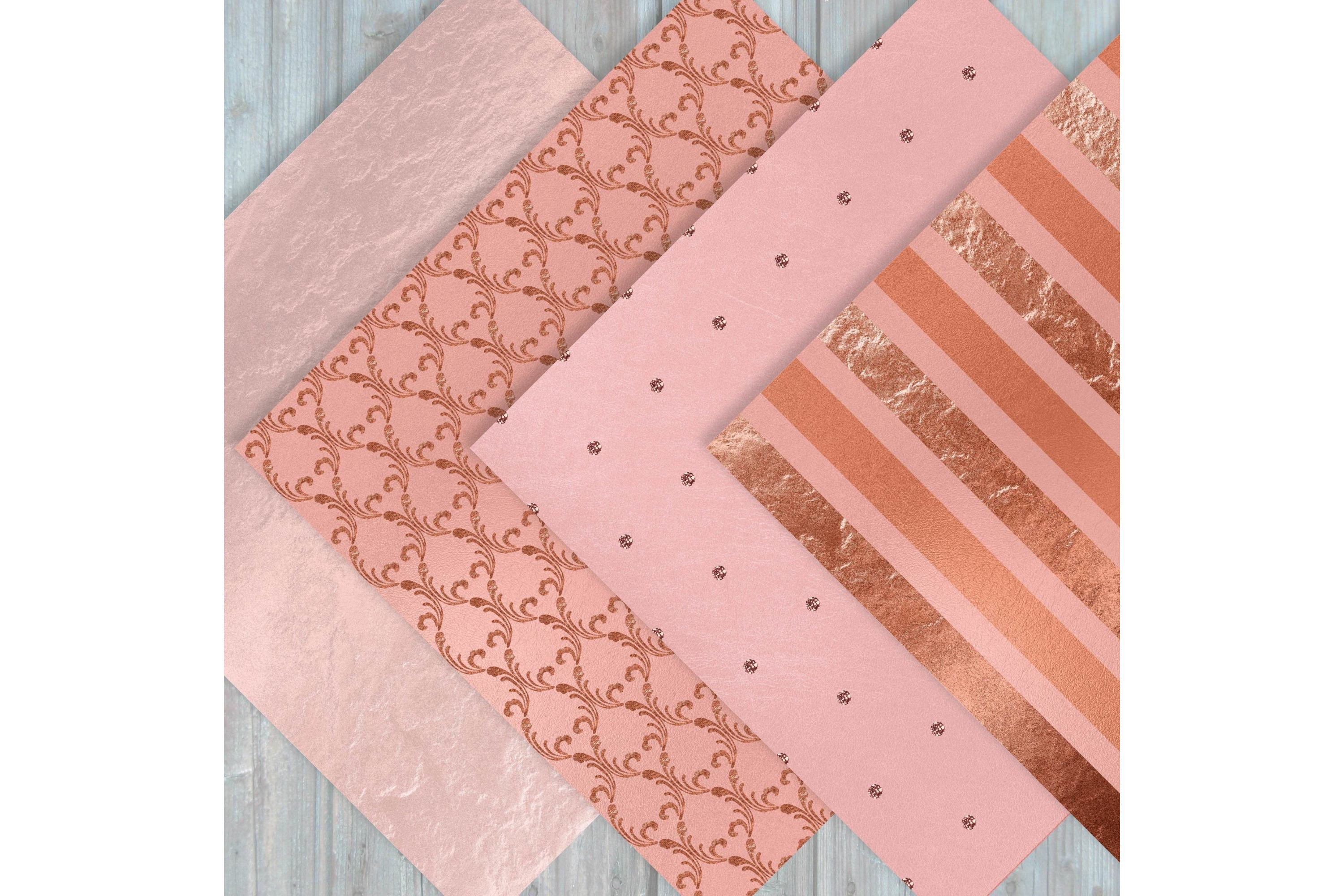 Rose Gold Digital Paper - Rose Gold Texture example image 4