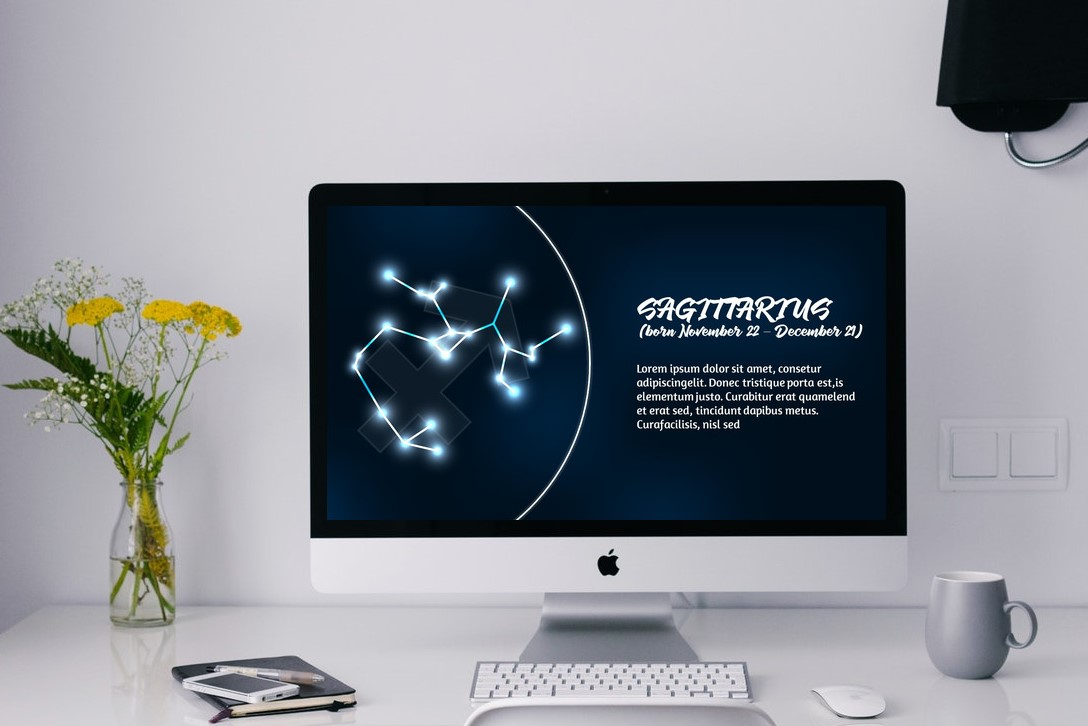 Zodiac Powerpoint Template Style 1 example image 3