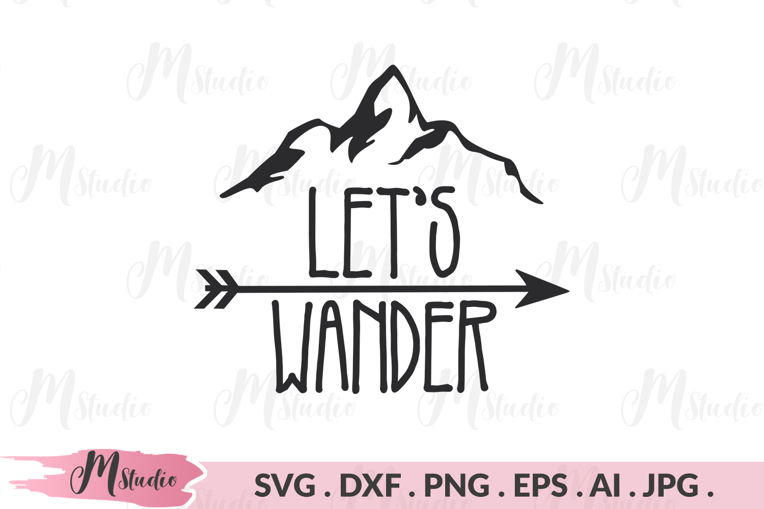 Let's Wander svg. example image 1