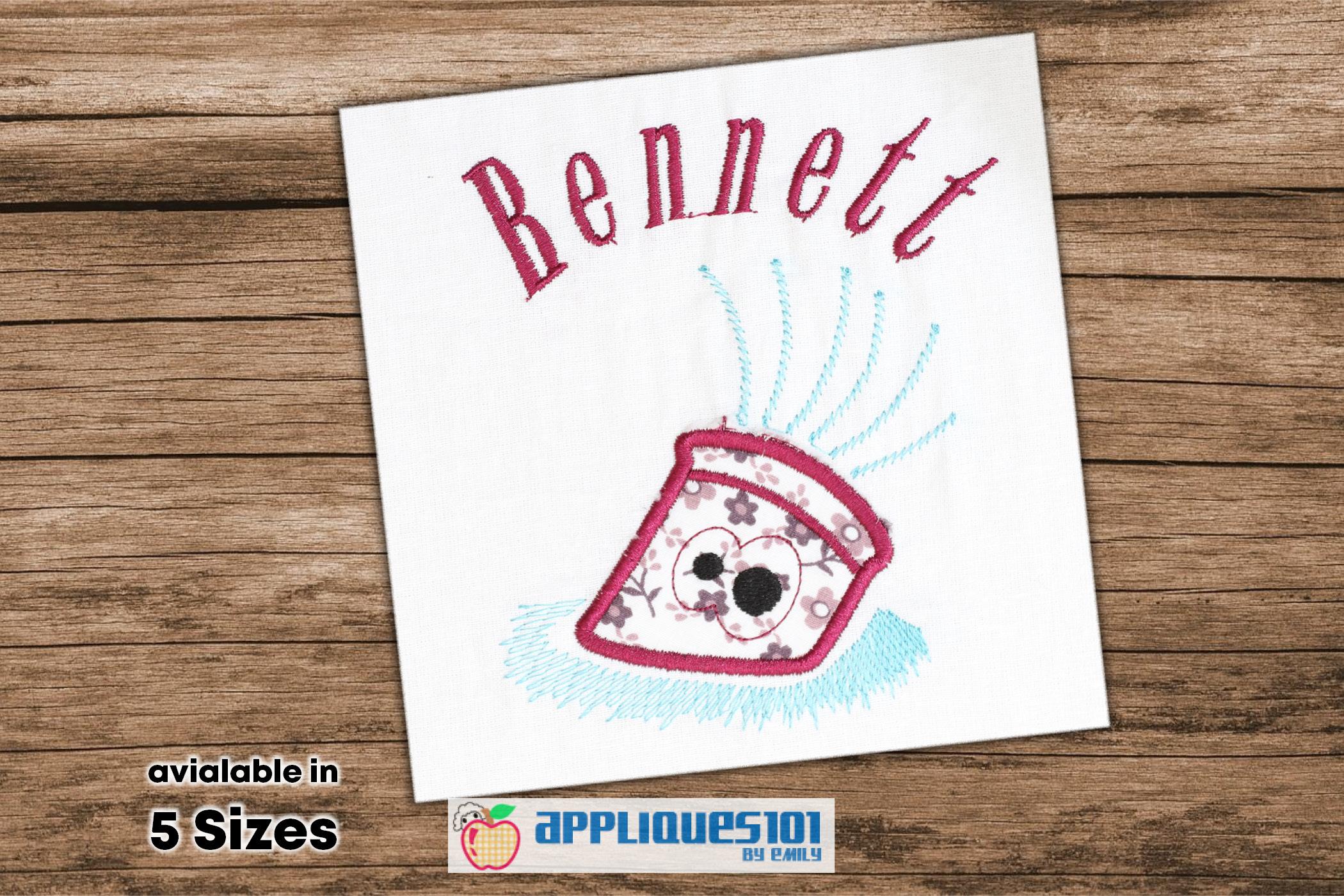 Cartoon Pencil Machine Embroidery Applique Design - Pencils example image 1
