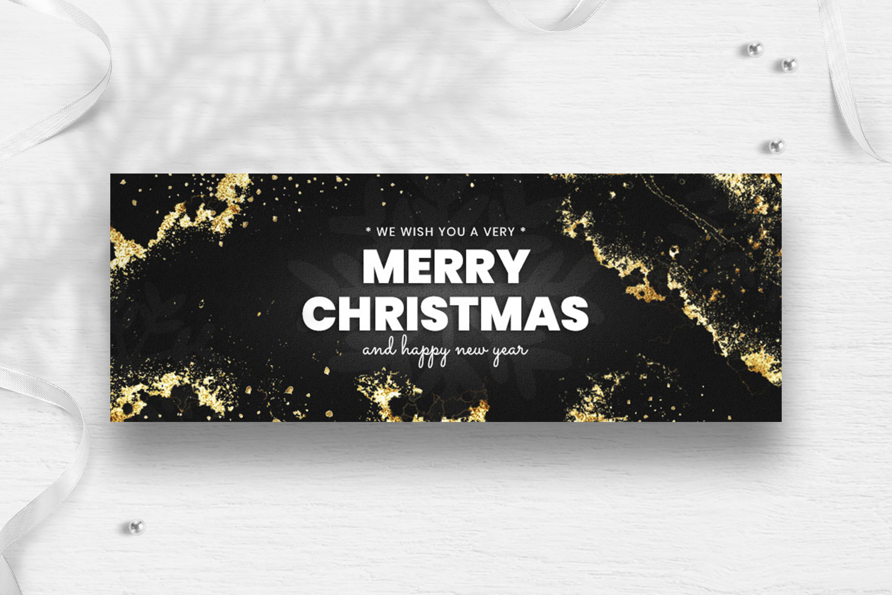 Merry Christmas Facebook Cover Template example image 5