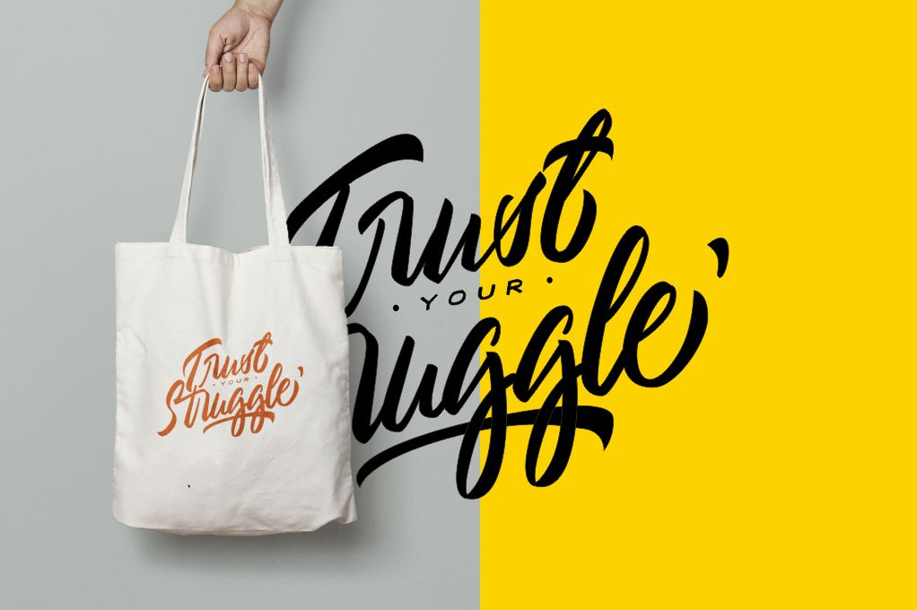 Typography//Trust Your Struggle SVG/PNG example image 5
