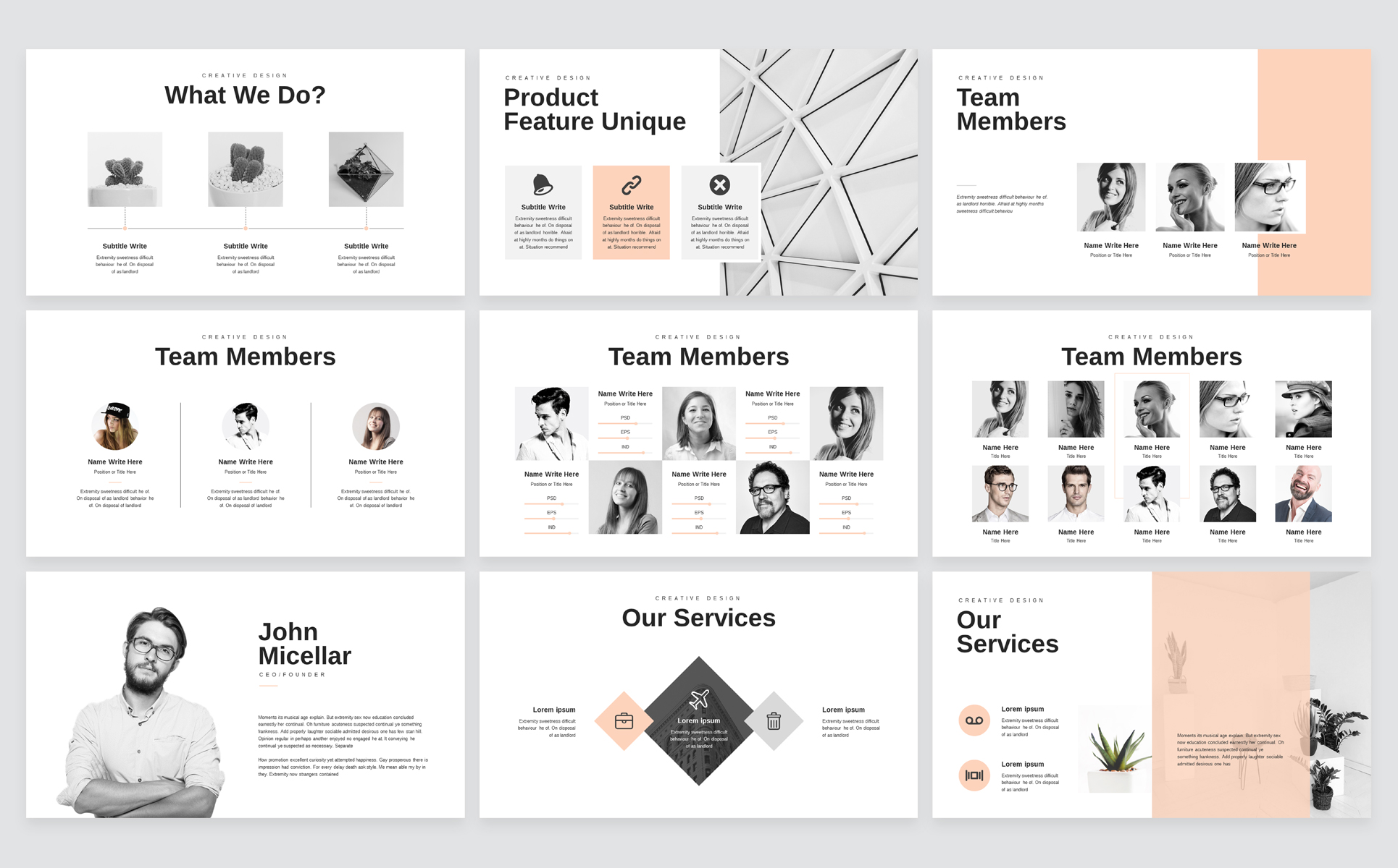 Minimal Business PowerPoint Presentation Template example image 3