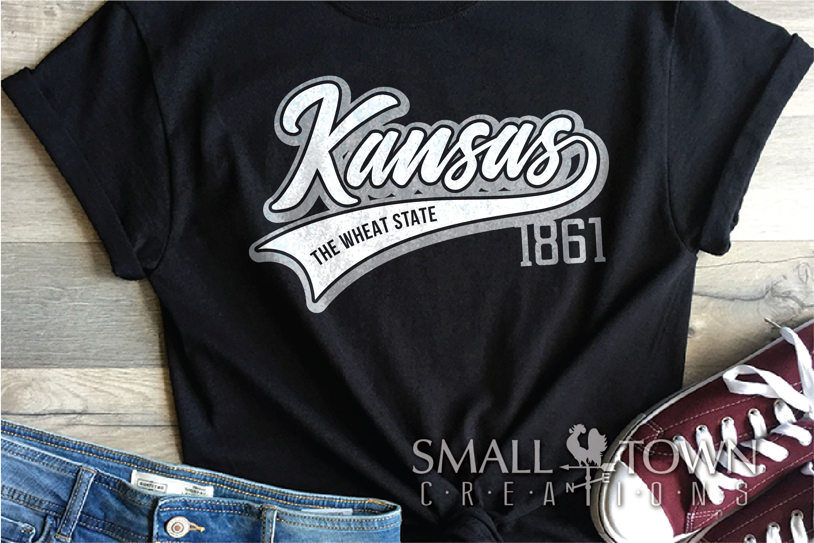 Kansas, The Wheat State - slogan, Logo, PRINT, CUT & DESIGN example image 2