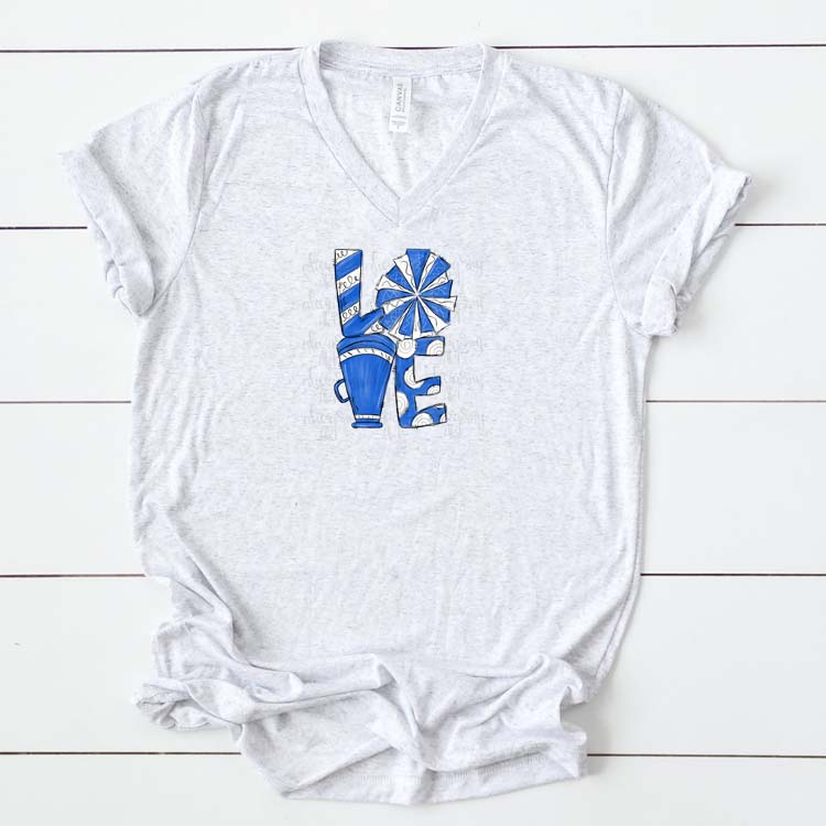 Cheer Love Royal Blue and White example image 2