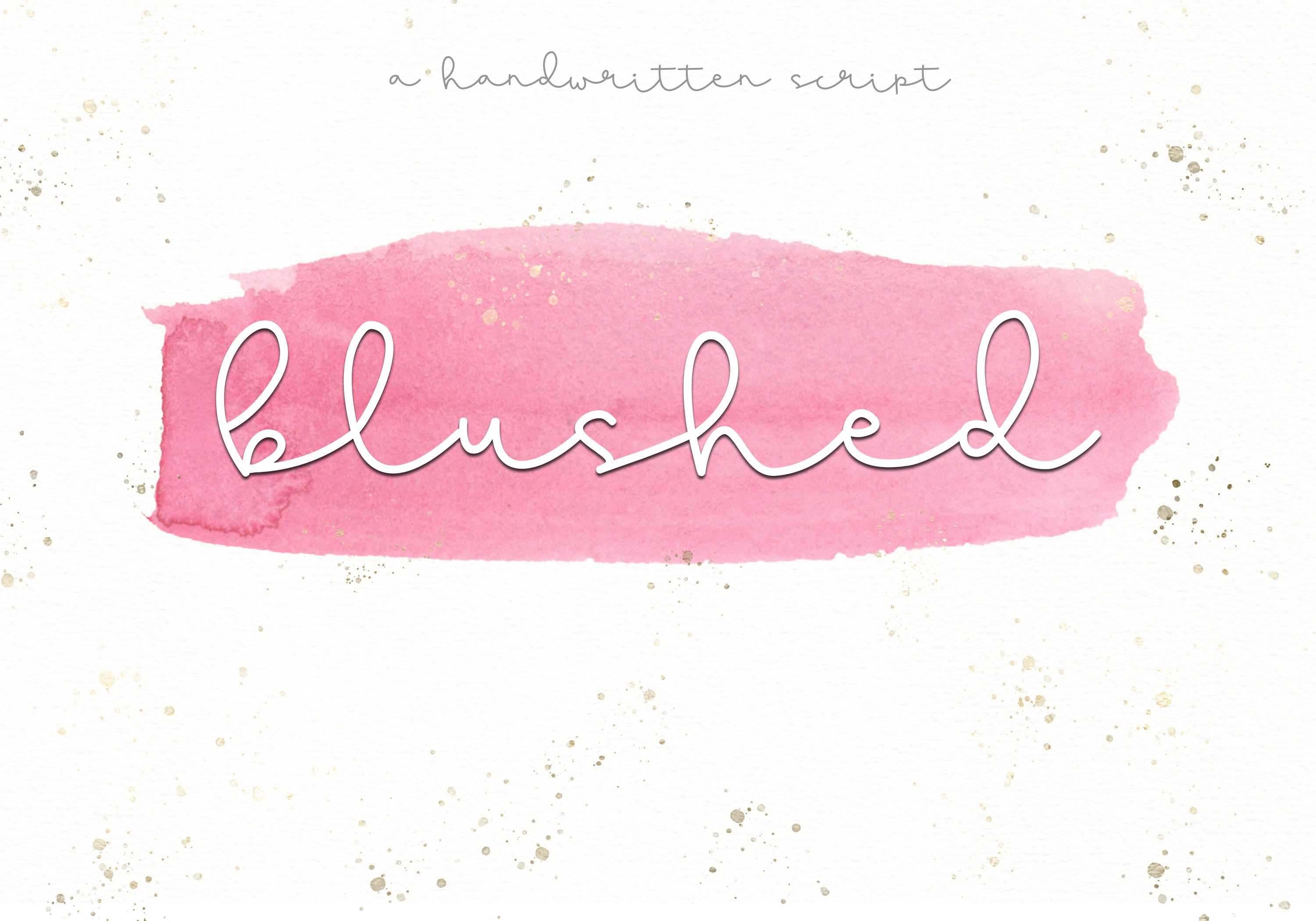 Blushed - A Cute Handwritten Script example image 1