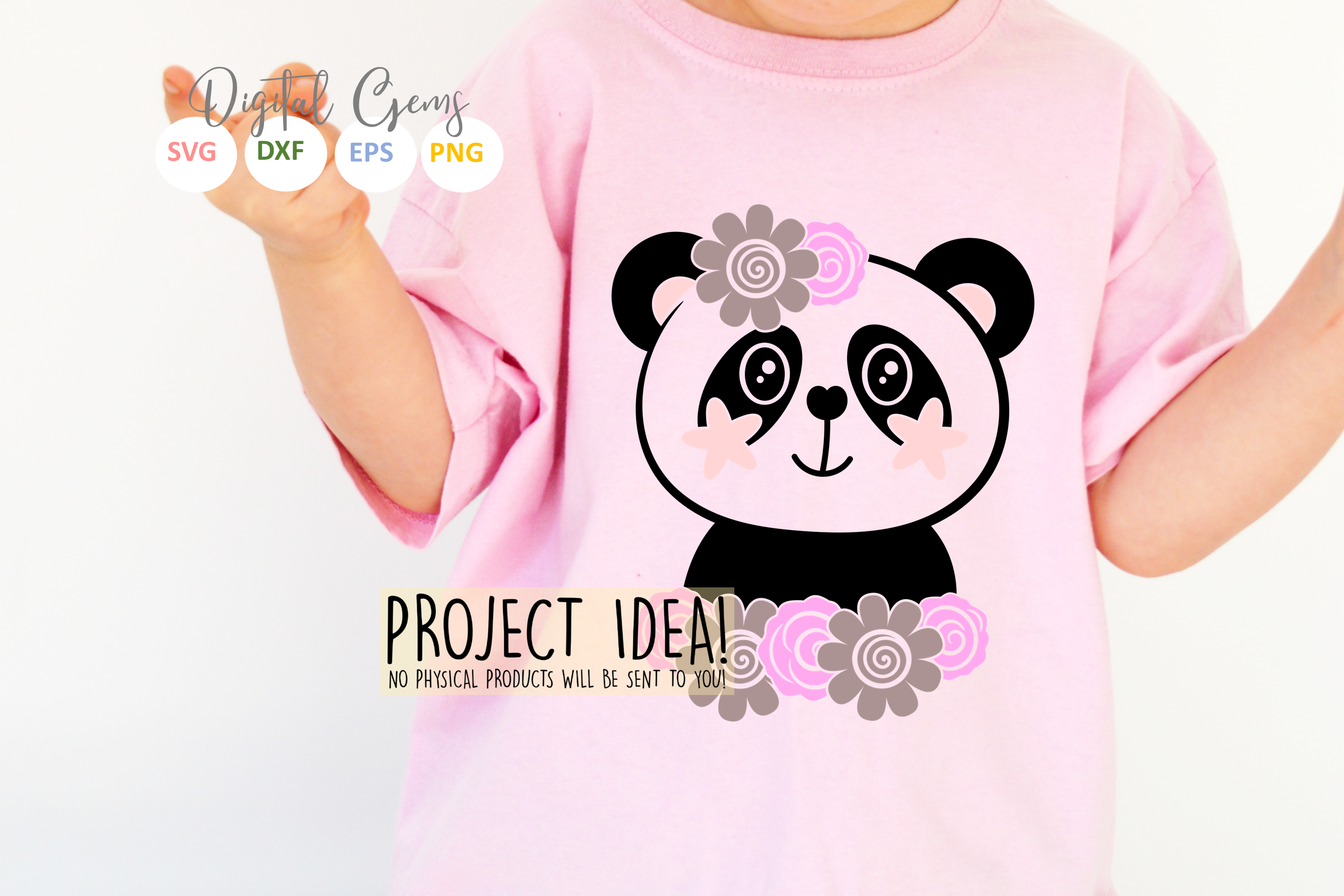 Panda designs. SVG / PNG / EPS / DXF Files example image 2