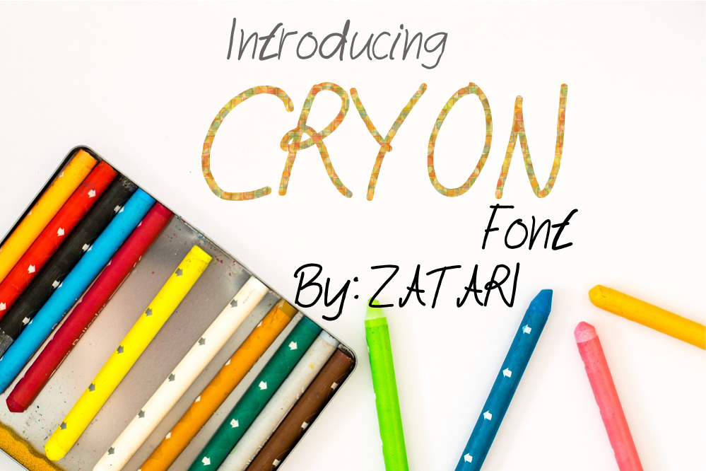 Cryon fonts example image 1