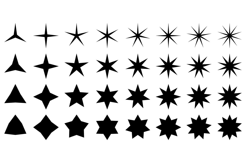 132x2 star shapes (EPS, AI, JPG 4800x4800) example image 2