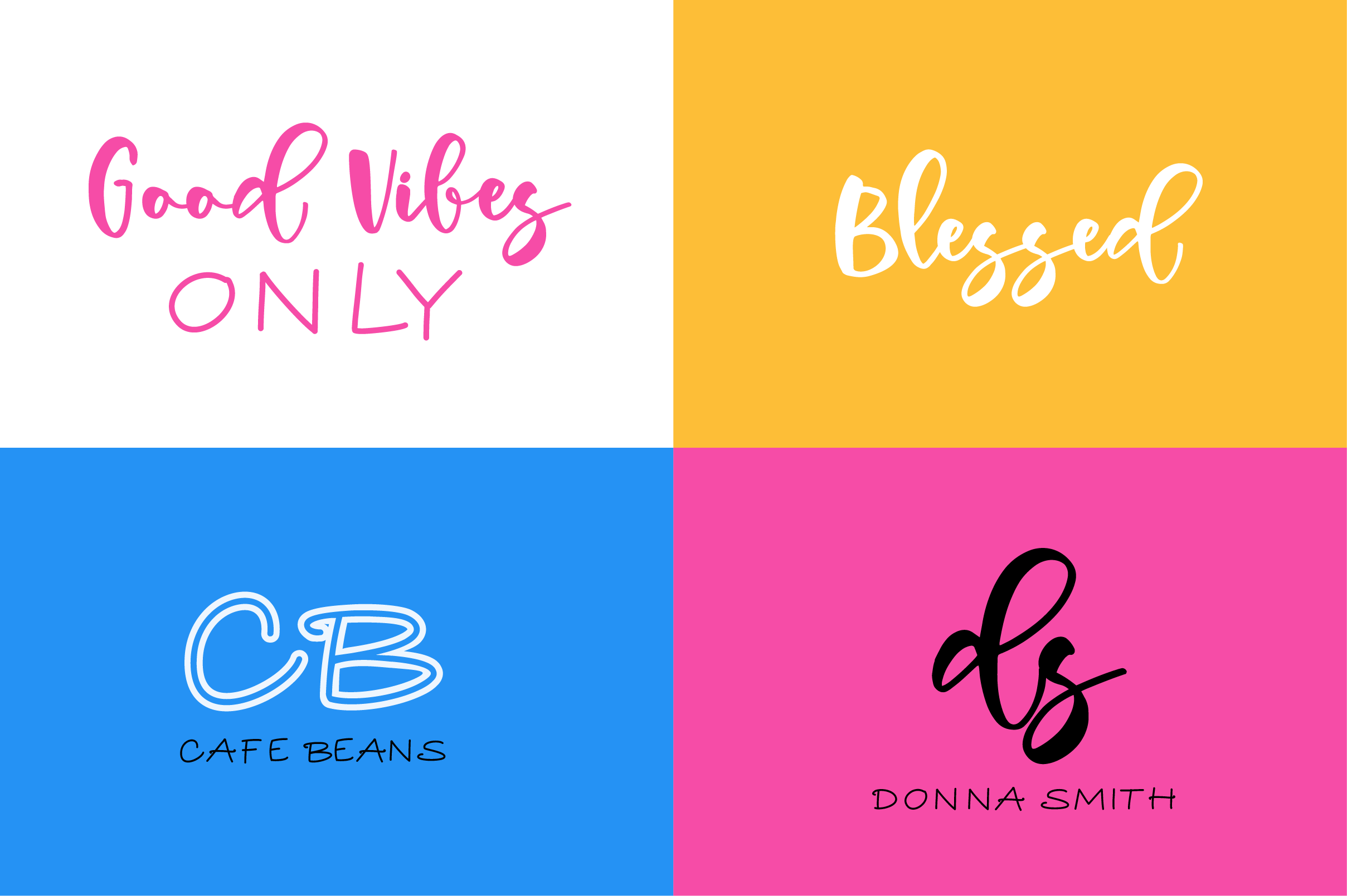 Vanilla Vibes Font Set example image 4