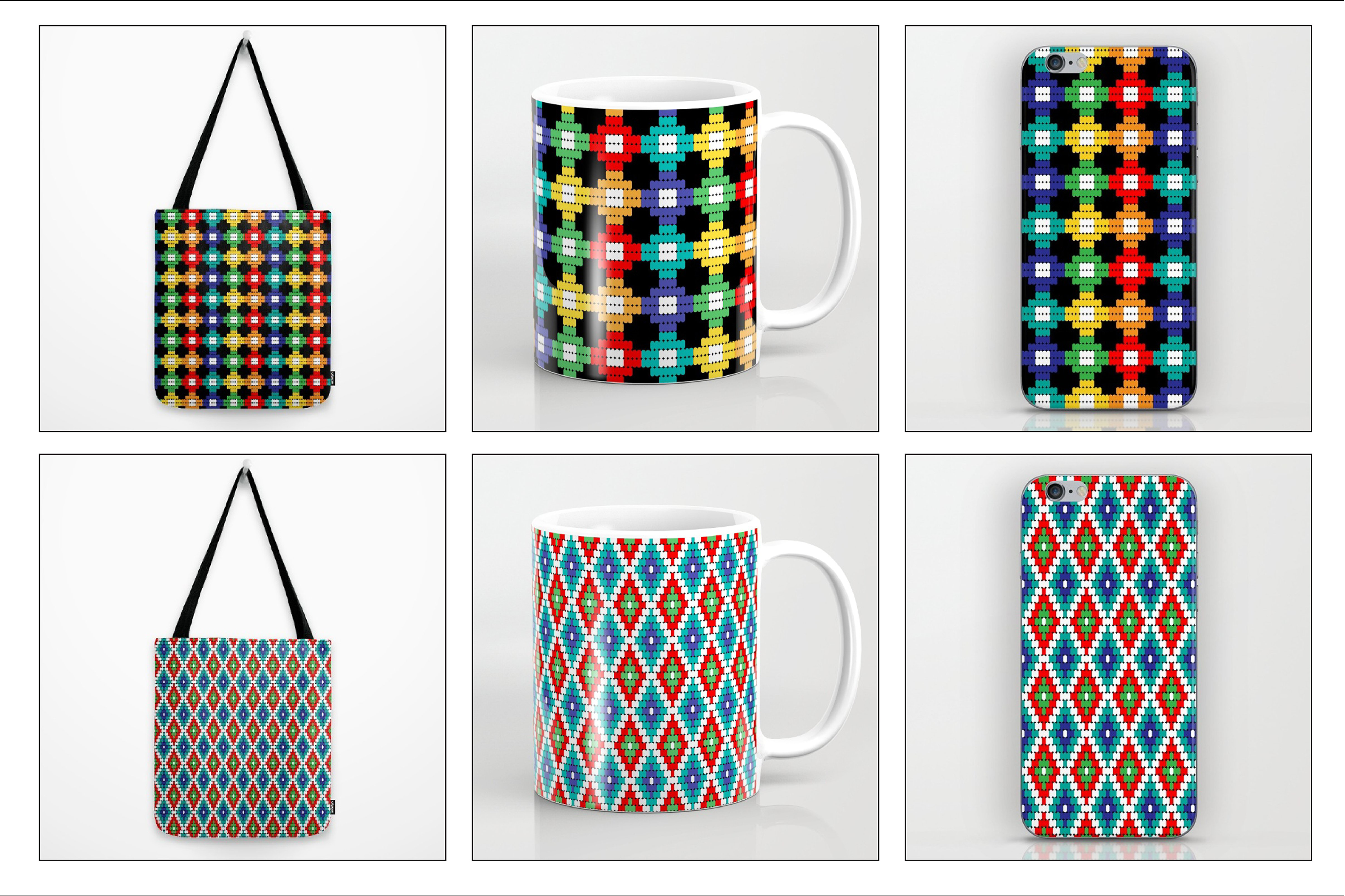 Seamless Tribal Bead Patterns example image 7