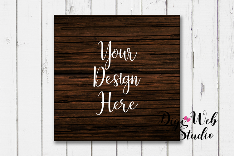 Wood Signs Mockup Bundle - 9 Piece Farmhouse Wood Signs 1 example image 4