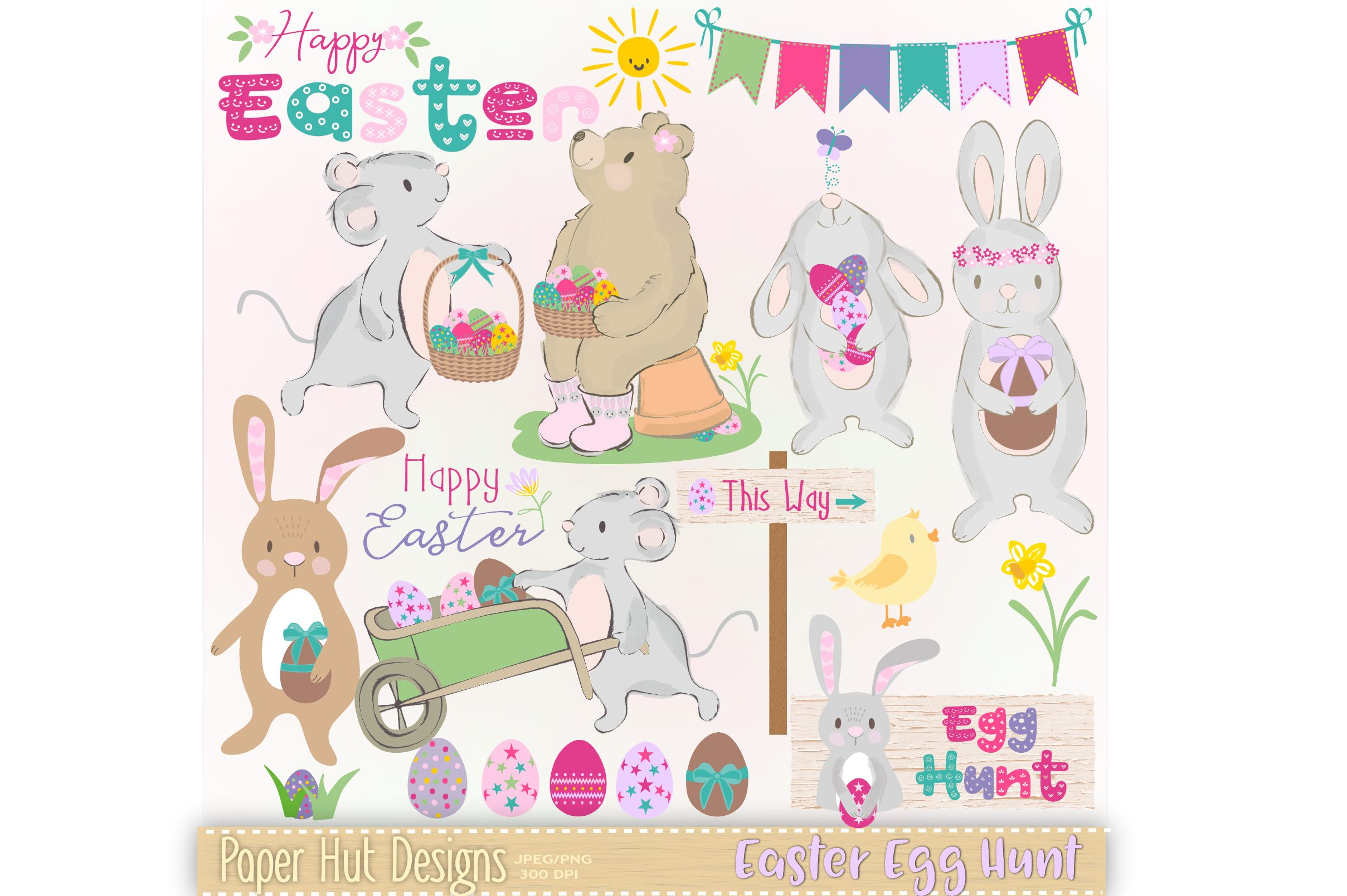 Easter Egg Hunt Clipart example image 1
