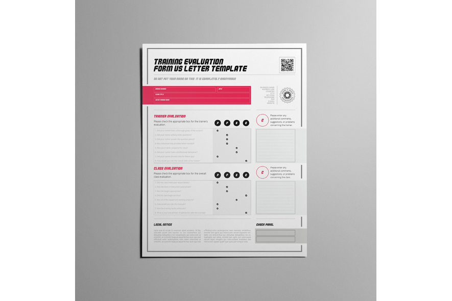 Training Evaluation Form US Letter Template example image 5