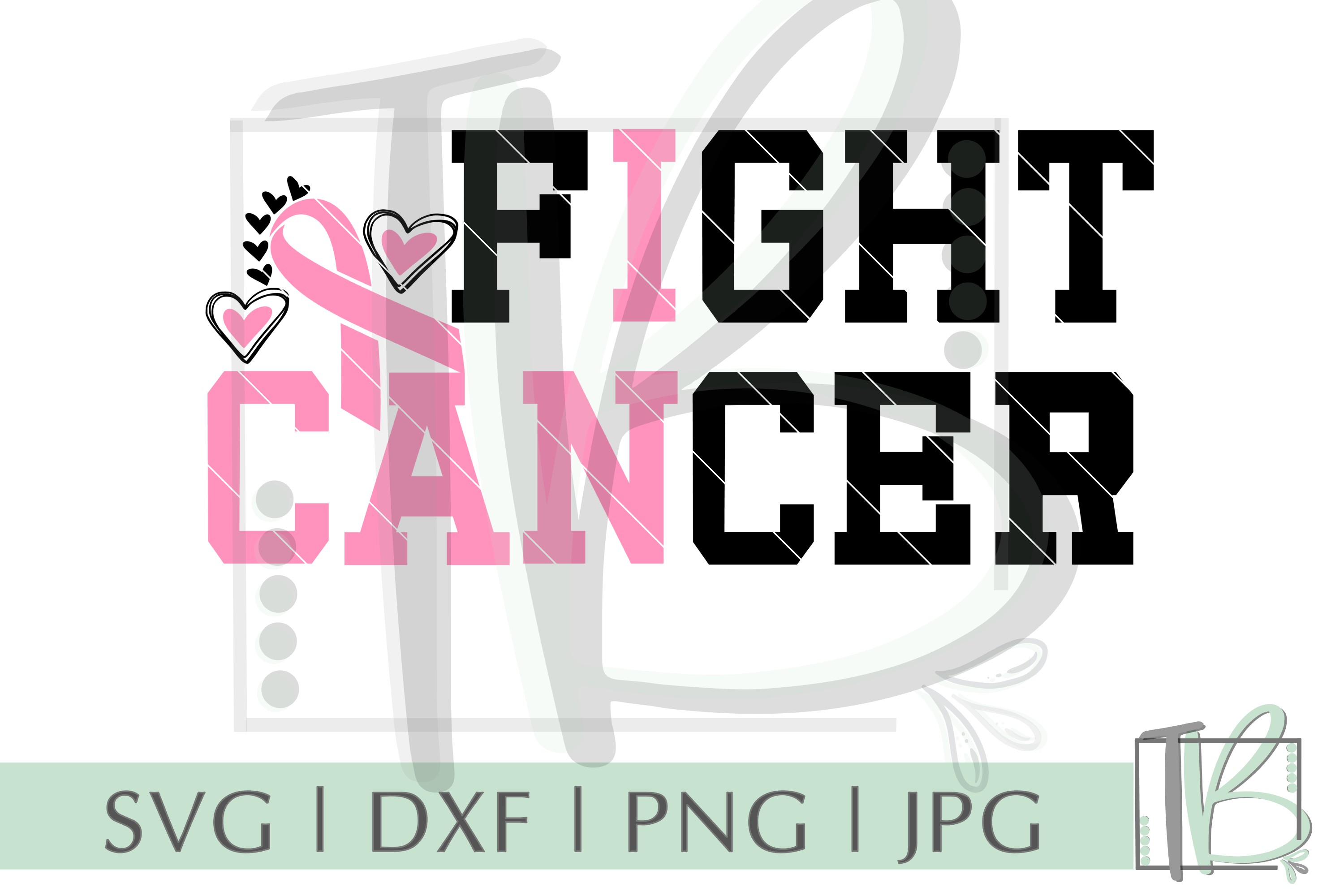 Breast Cancer SVG, I Can Fight Cancer SVG example image 2