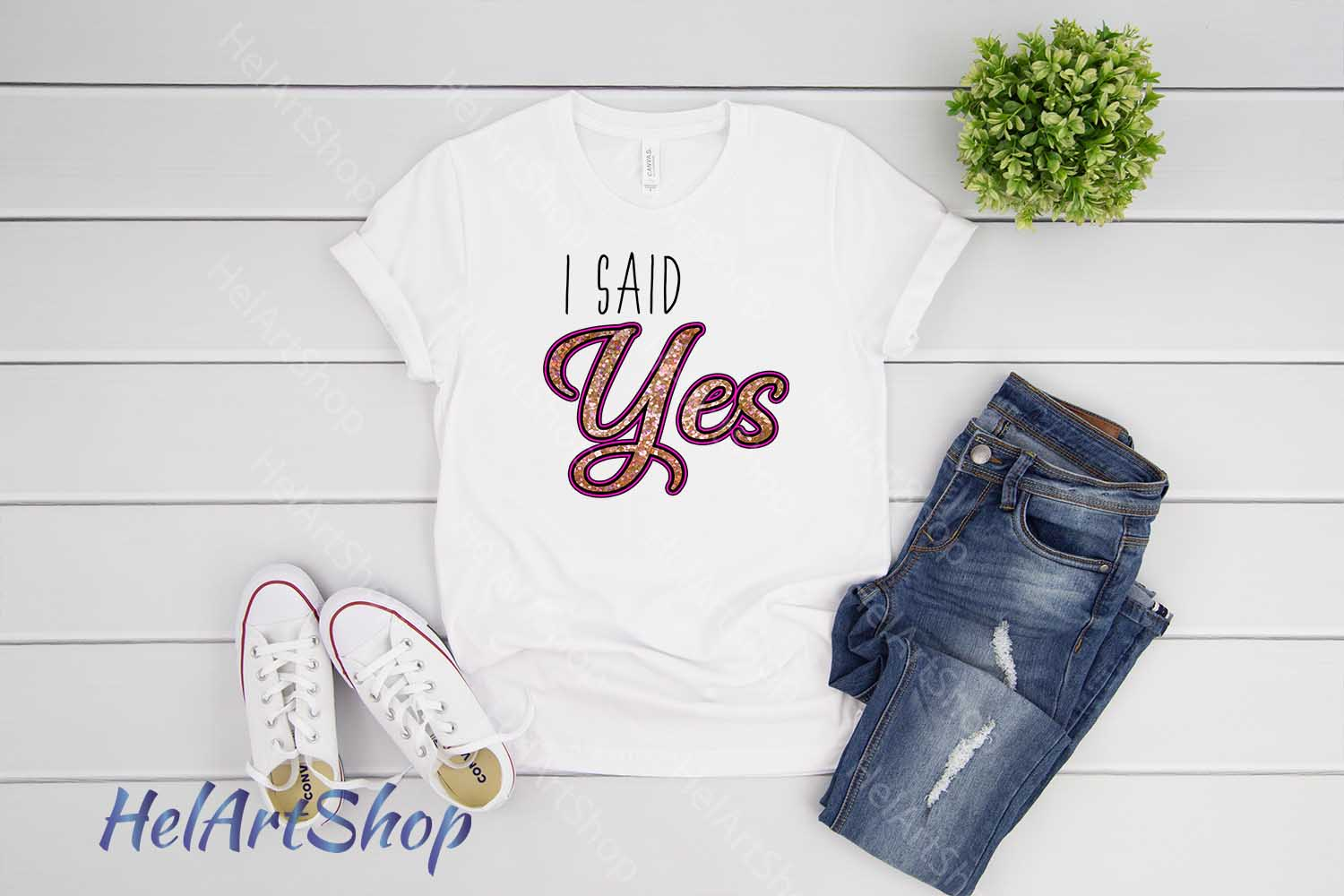 I Said Yes png, Sublimation png, Engagement png example image 2
