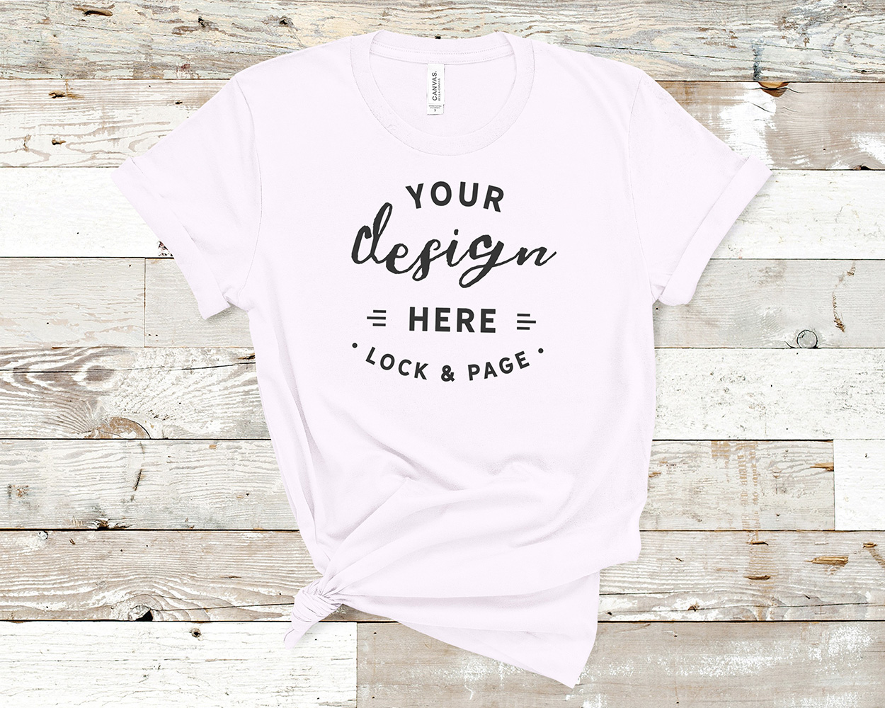 Bella Canvas 3001 Mockup T-Shirt Bundle All Colors On Wood example image 17