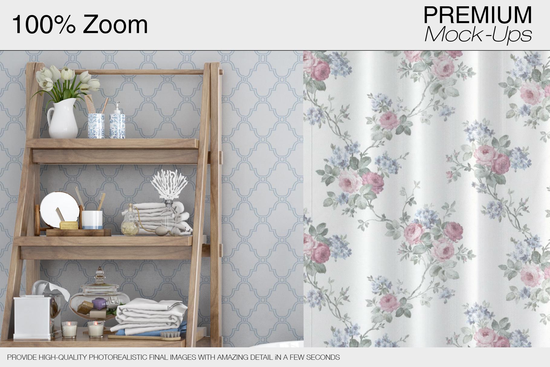 Bath Curtain Mockups example image 6