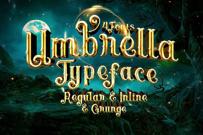Umbrella - 4 Display Fonts example image 7