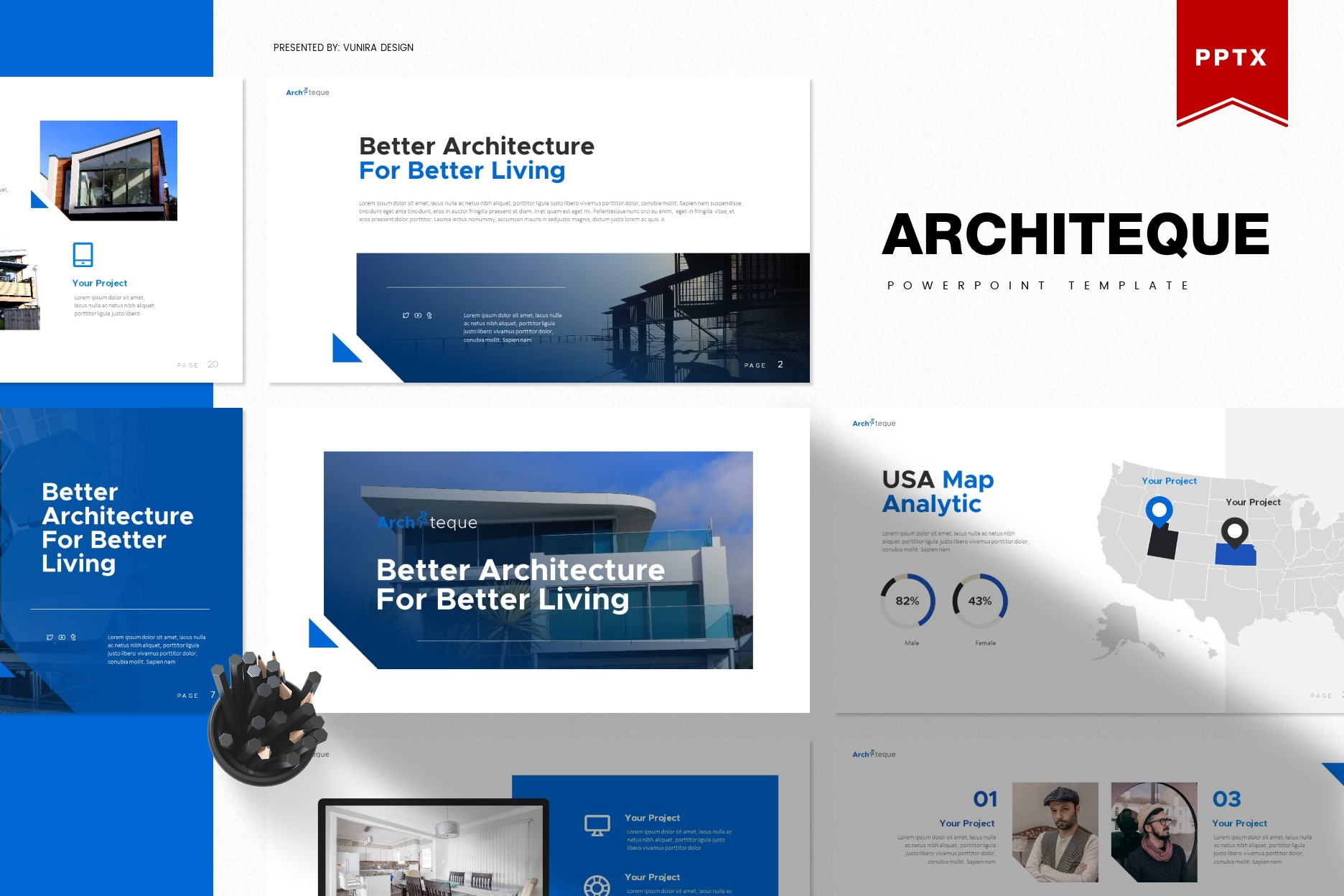 Architeque | Powerpoint, Keynote, GoogleSlides Template example image 2
