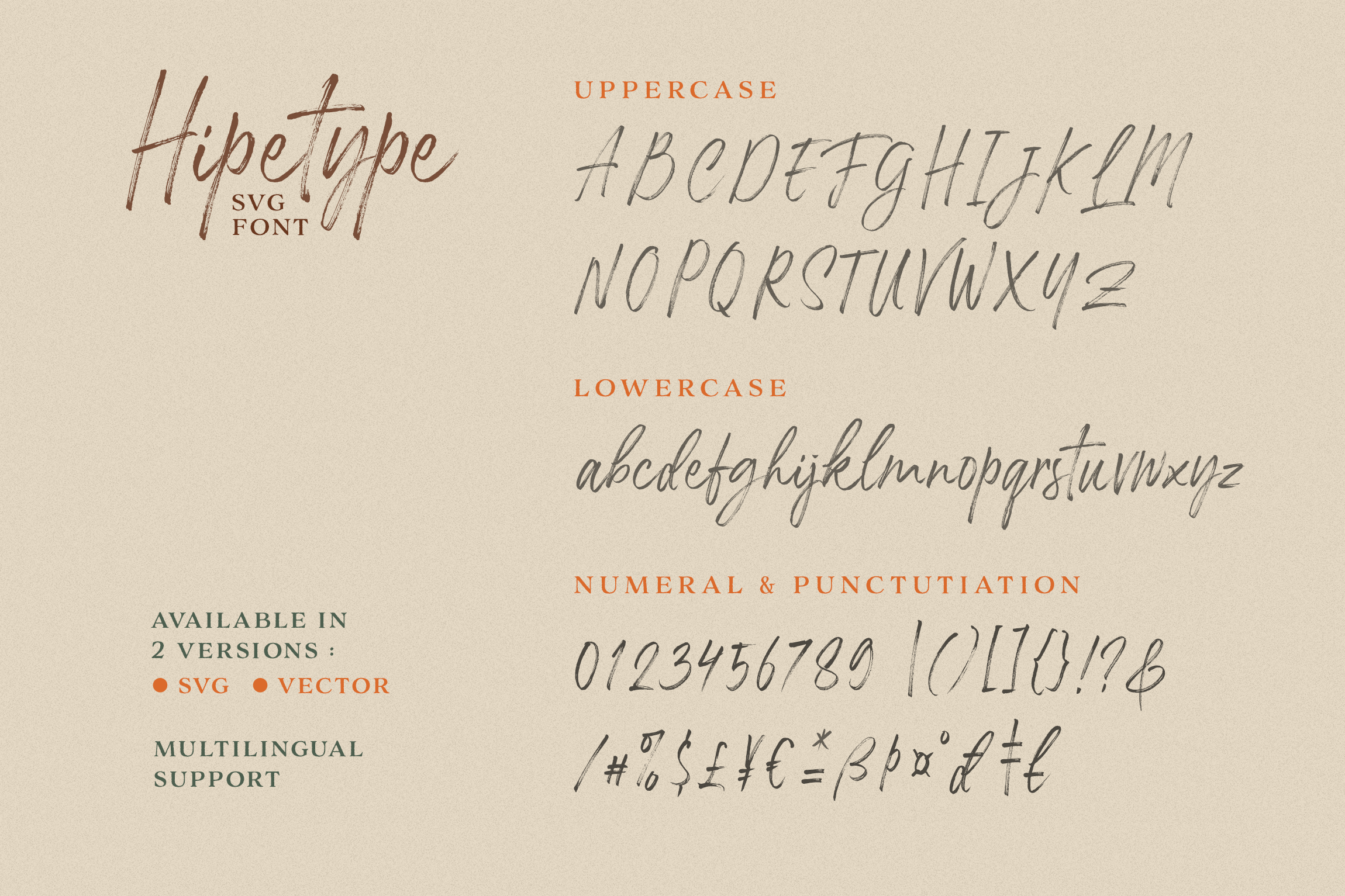 Hipetype SVG Font example image 9