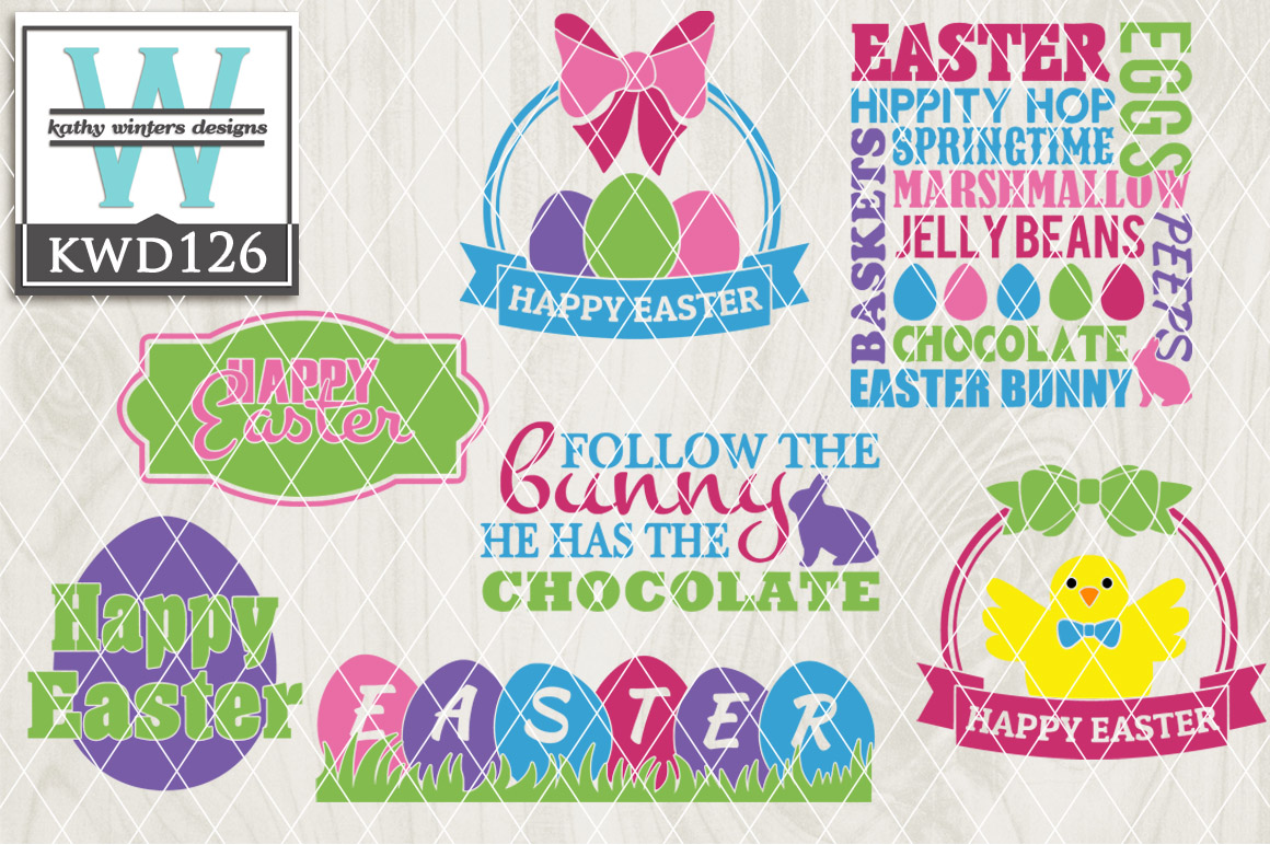 Easter Cutting File KWD126 example image 1