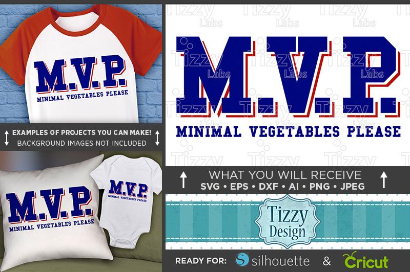 MVP Shirt SVG - MVP Minimal Vegetables Please Svg - 1026 example image 1