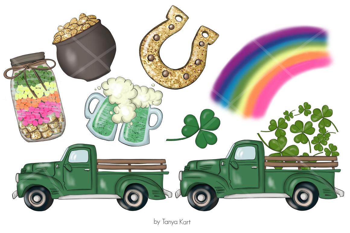 St. Patricks Gnomes Icons & Pattern example image 6