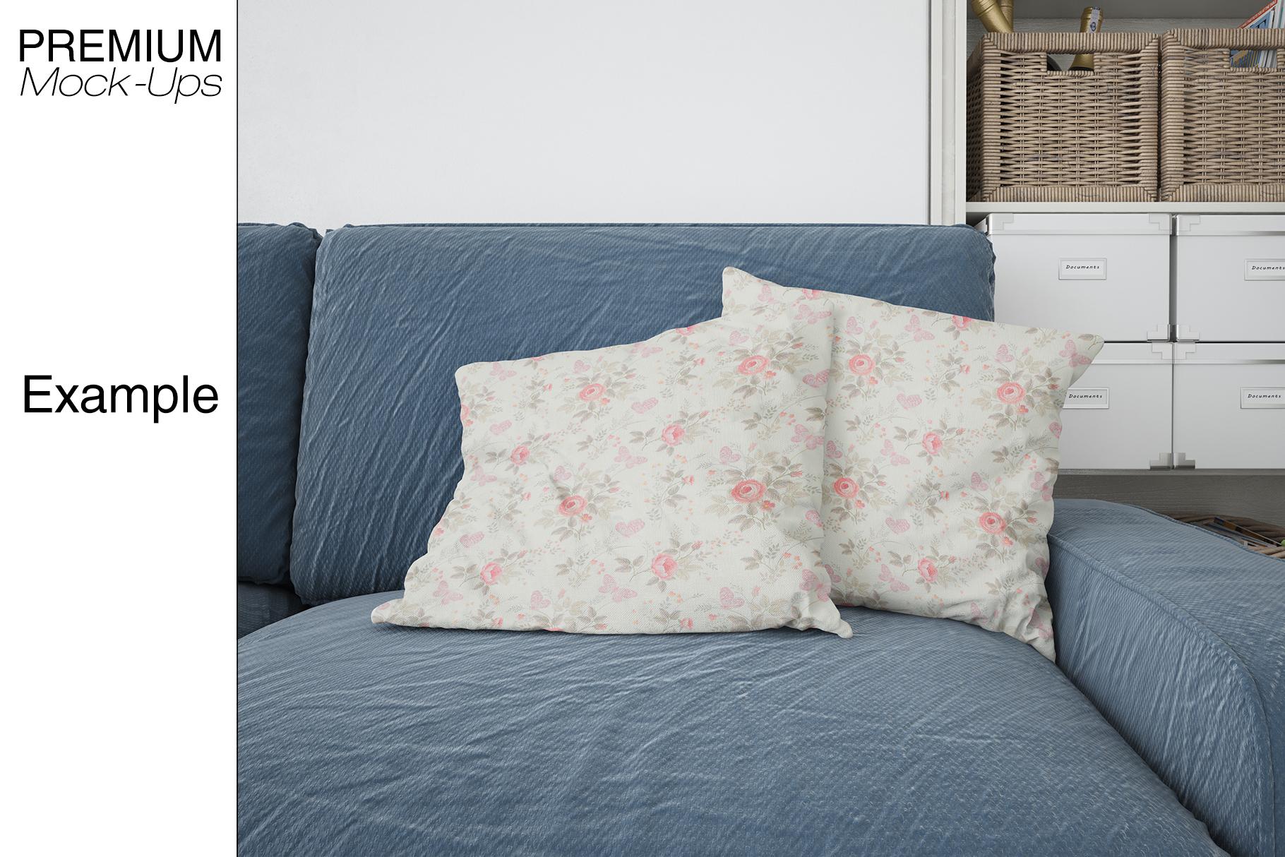 Pillows & Frames Mockup Set example image 11