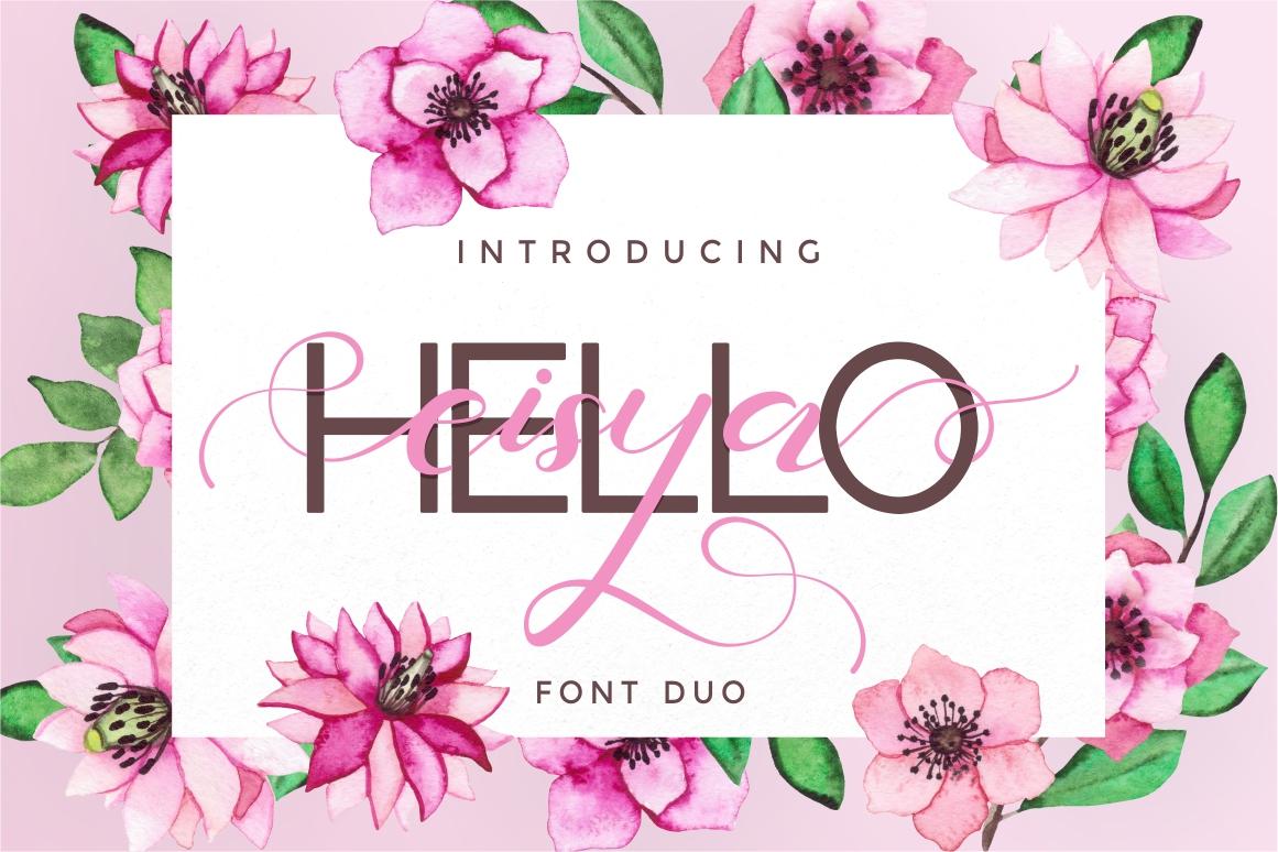 Hello Eisya - Font Duo example image 1