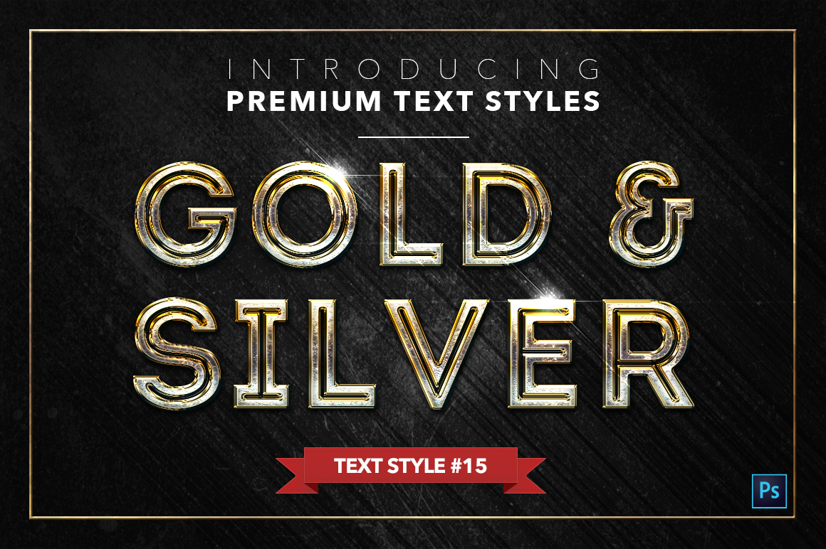 Gold & Silver #2 - 20 Text Styles example image 10