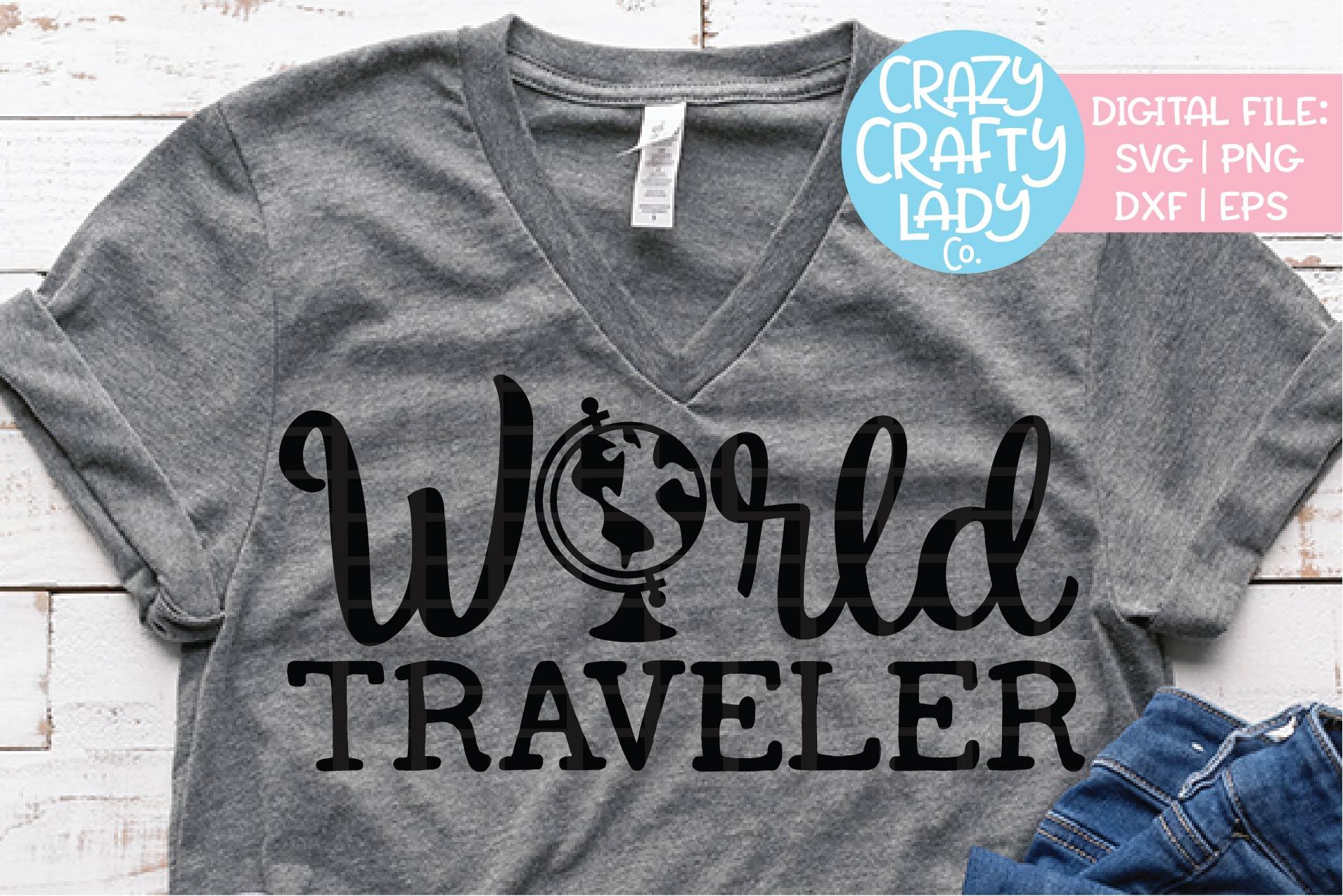 World Traveler SVG DXF EPS PNG Cut File example image 1