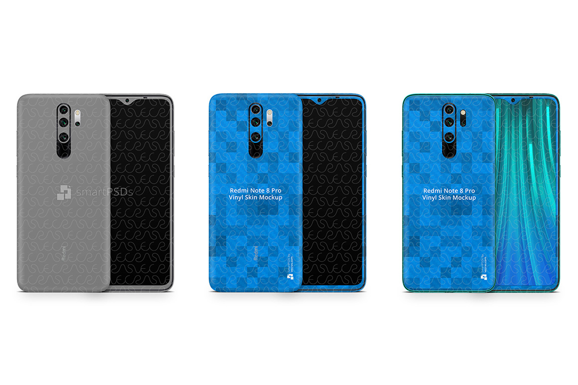 Redmi Note 8 Pro 2019 PSD Skin Mockup Template example image 1