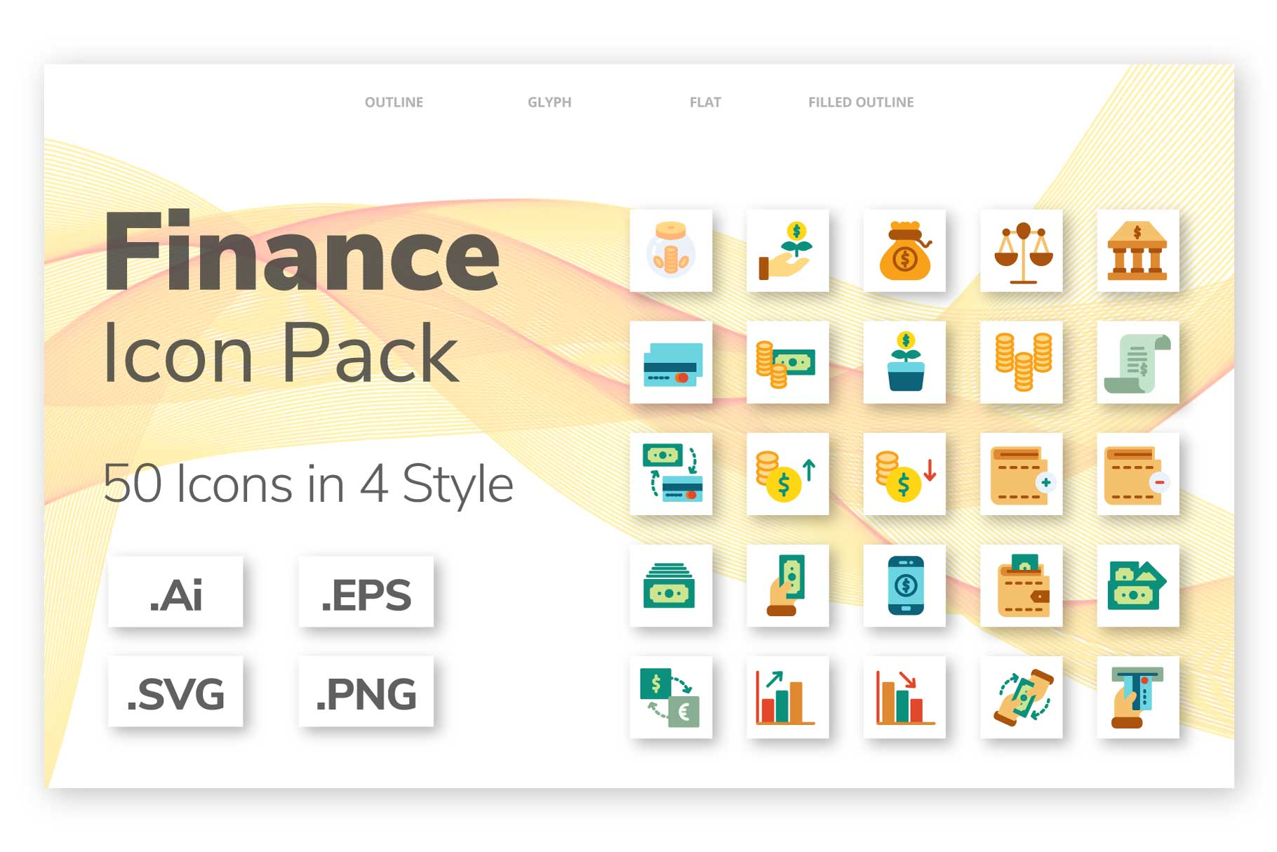 200 Finance icon pack example image 1