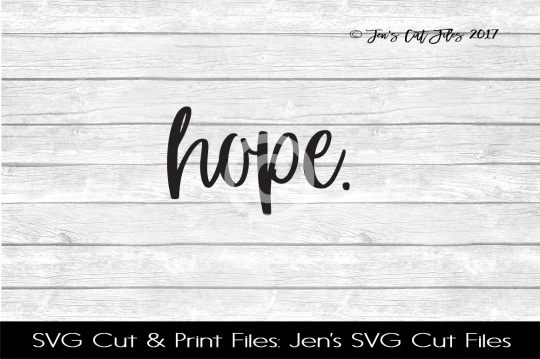 Hope SVG Cut File example image 1