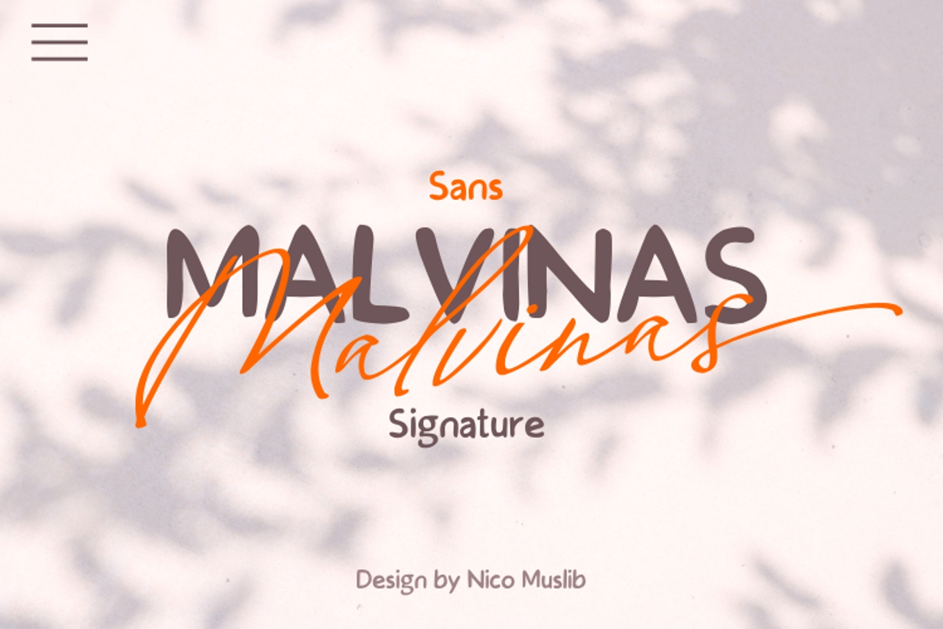 Malvinas Font Duo example image 1